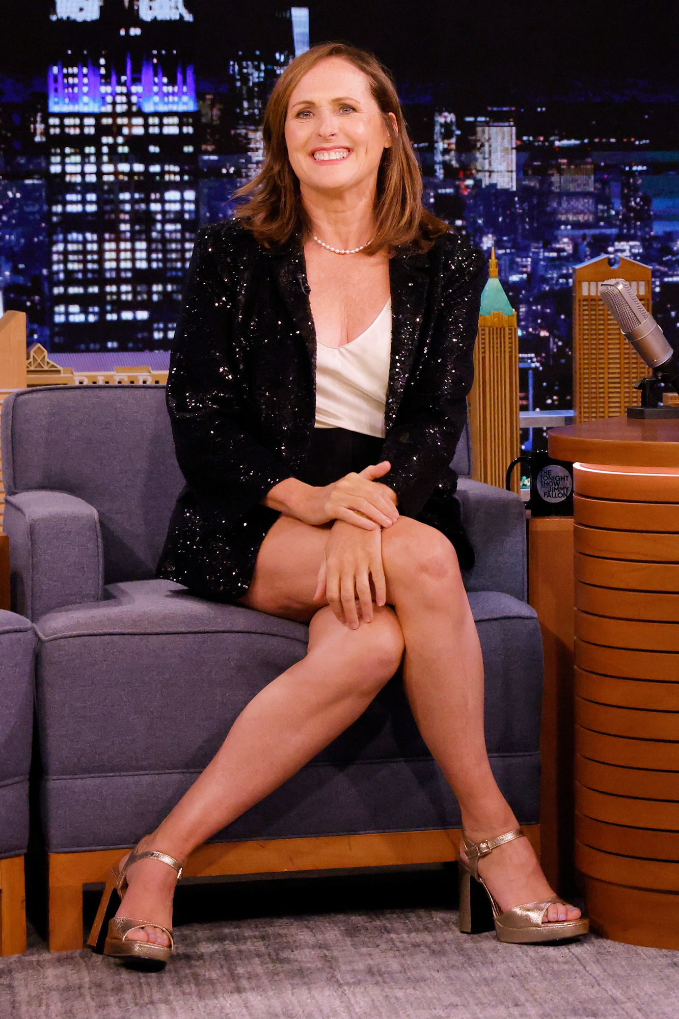THE TONIGHT SHOW STARRING JIMMY FALLON -- Episode 1507 -- Pictured: Actress Molly Shannon during an interview on Wednesday, August 25, 2021