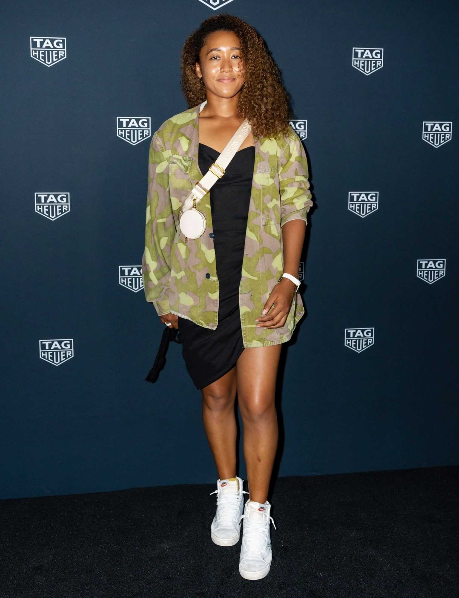 Naomi Osaka attends as TAG Heuer Celebrates Naomi Osaka and Tennis Family at Mr. Purple on August 26, 2021 in New York City.