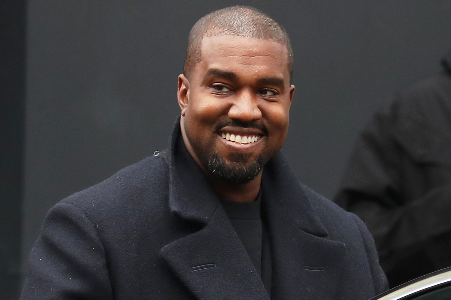 Kanye West seen leaving Michiko Sushino restaurant with his daughter North West (not pictured) in Queen's Park on October 10, 2020 in London, England.