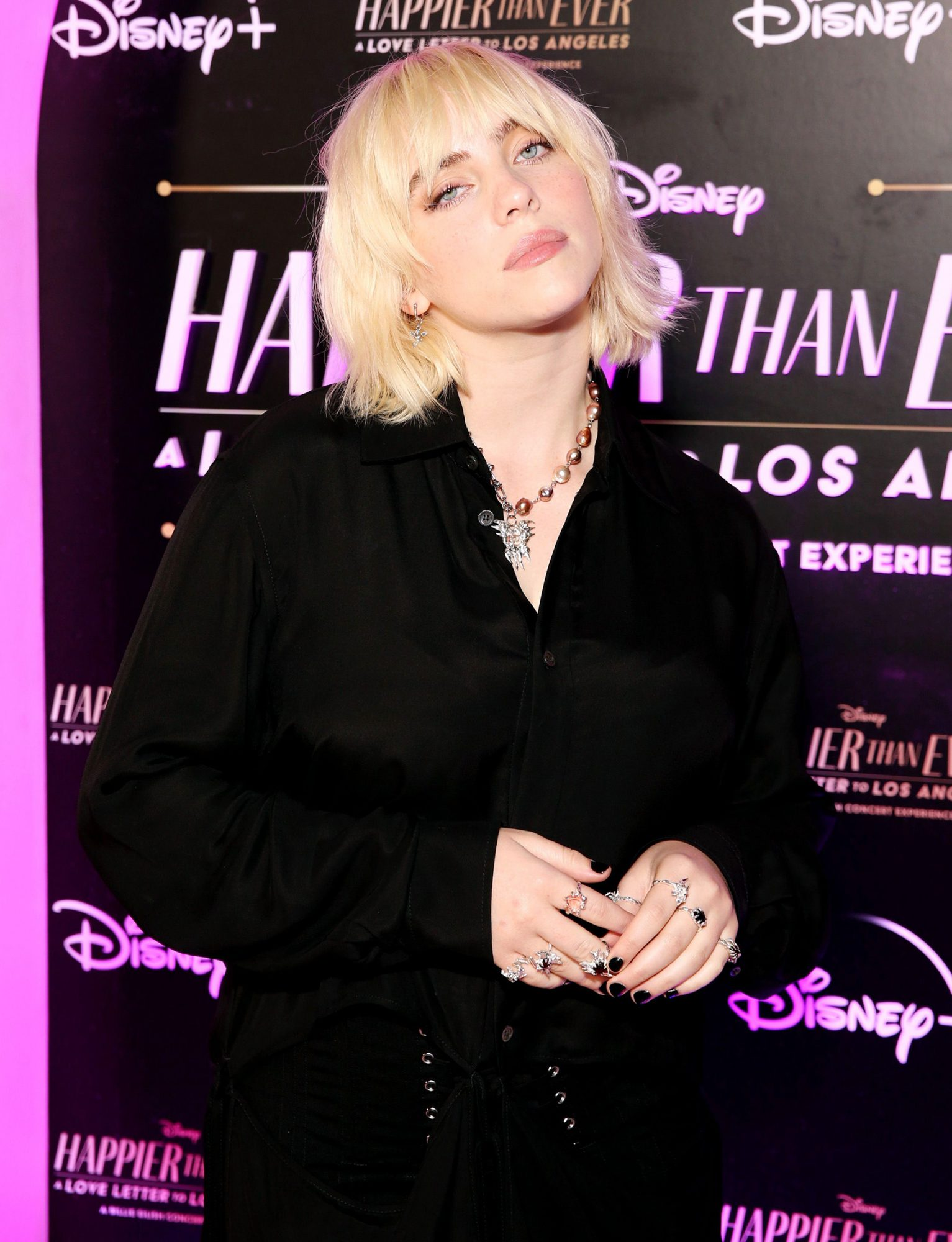 """Billie Eilish attends """"Happier Than Ever: A Love Letter To Los Angeles"""" Worldwide Premiere at The Grove on August 30, 2021 in Los Angeles, California"""