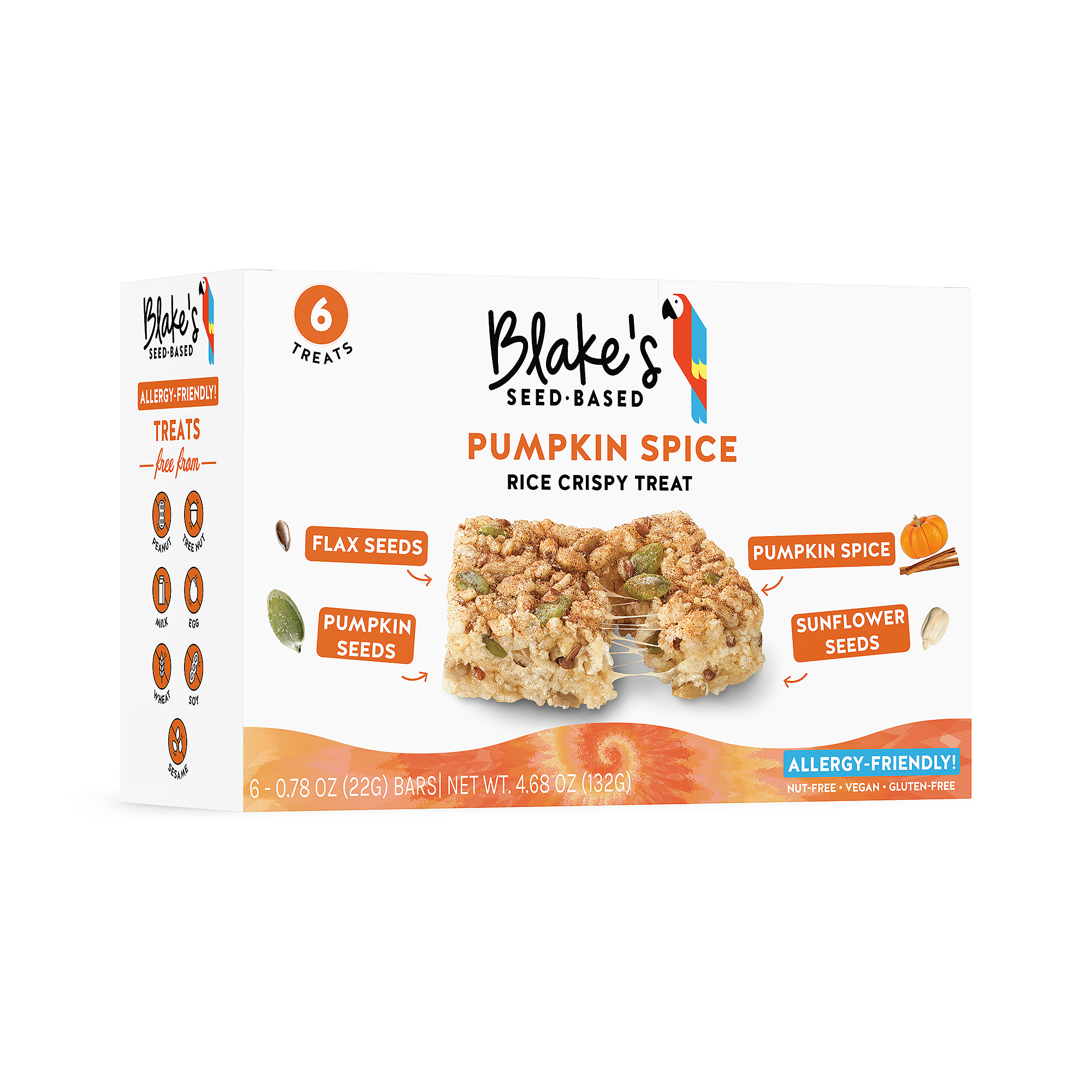 Blake's seed-based rice crispy treats are already heart-healthy indulgences and the addition of pumpkin spice makes them all-the-more drool-worthy.