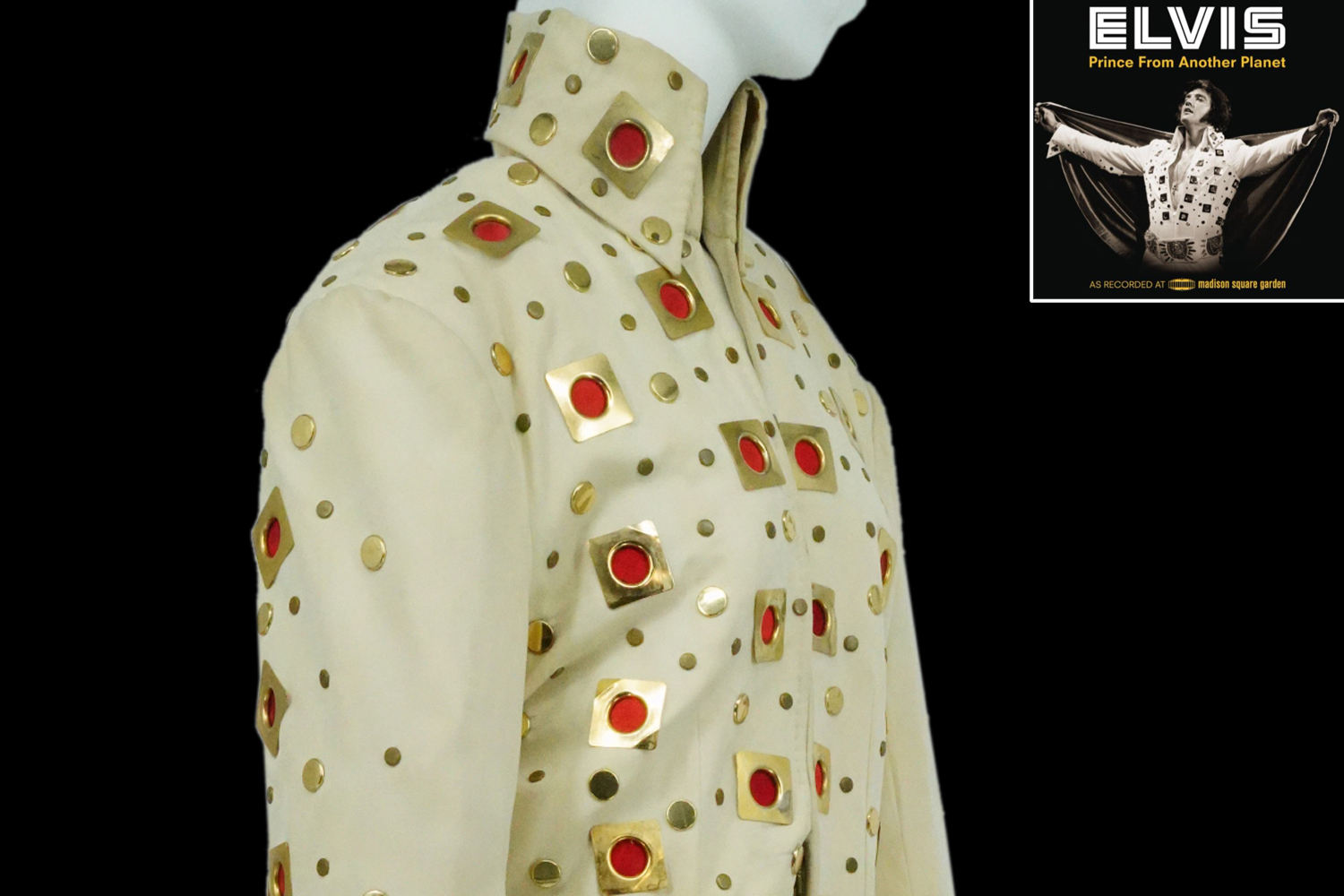 Elvis Presley's iconic jumpsuit and cape he wore in a string of concerts at Madison Square Garden in 1972