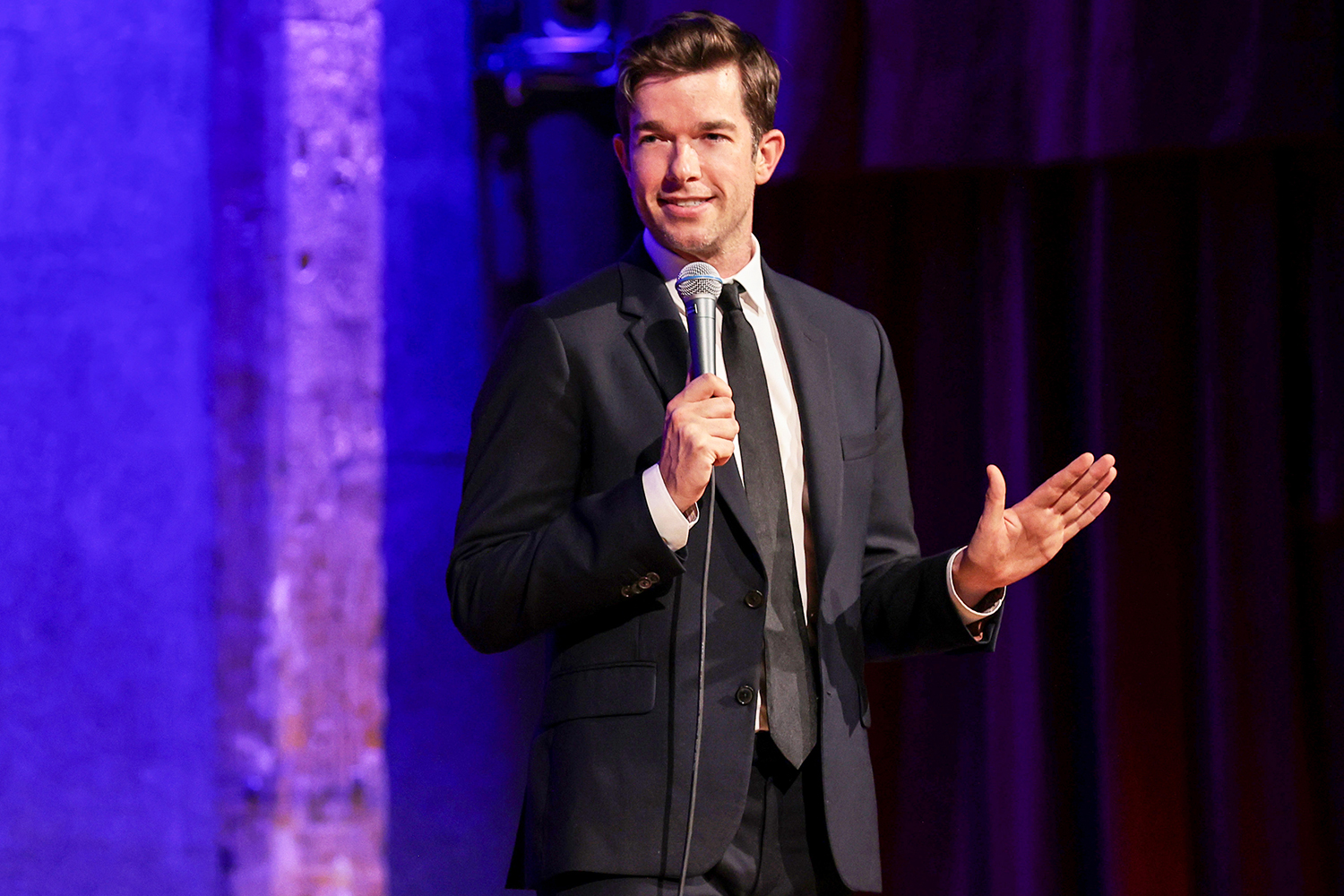 """Comedian John Mulaney Performs Standup From His """"From Scratch"""" Tour At New York's City Winery As Part Of SiriusXM's Small Stage Series at City Winery on September 01, 2021 in New York City."""