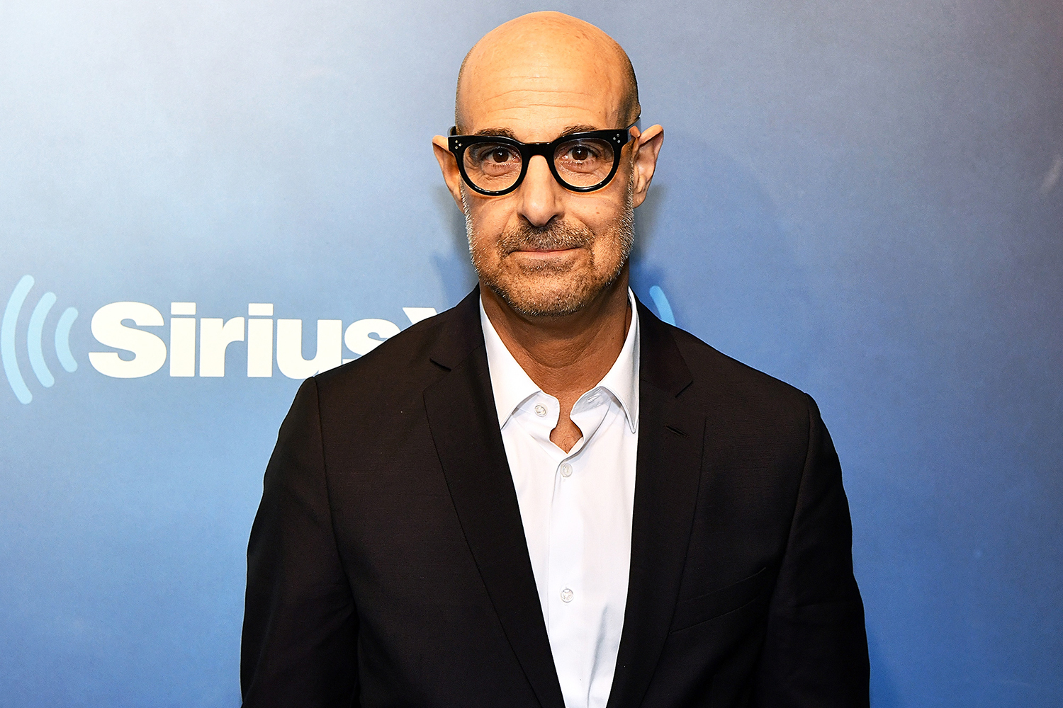 Stanley Tucci visits Radio Andy at SiriusXM Studios on November 14, 2018 in New York City.