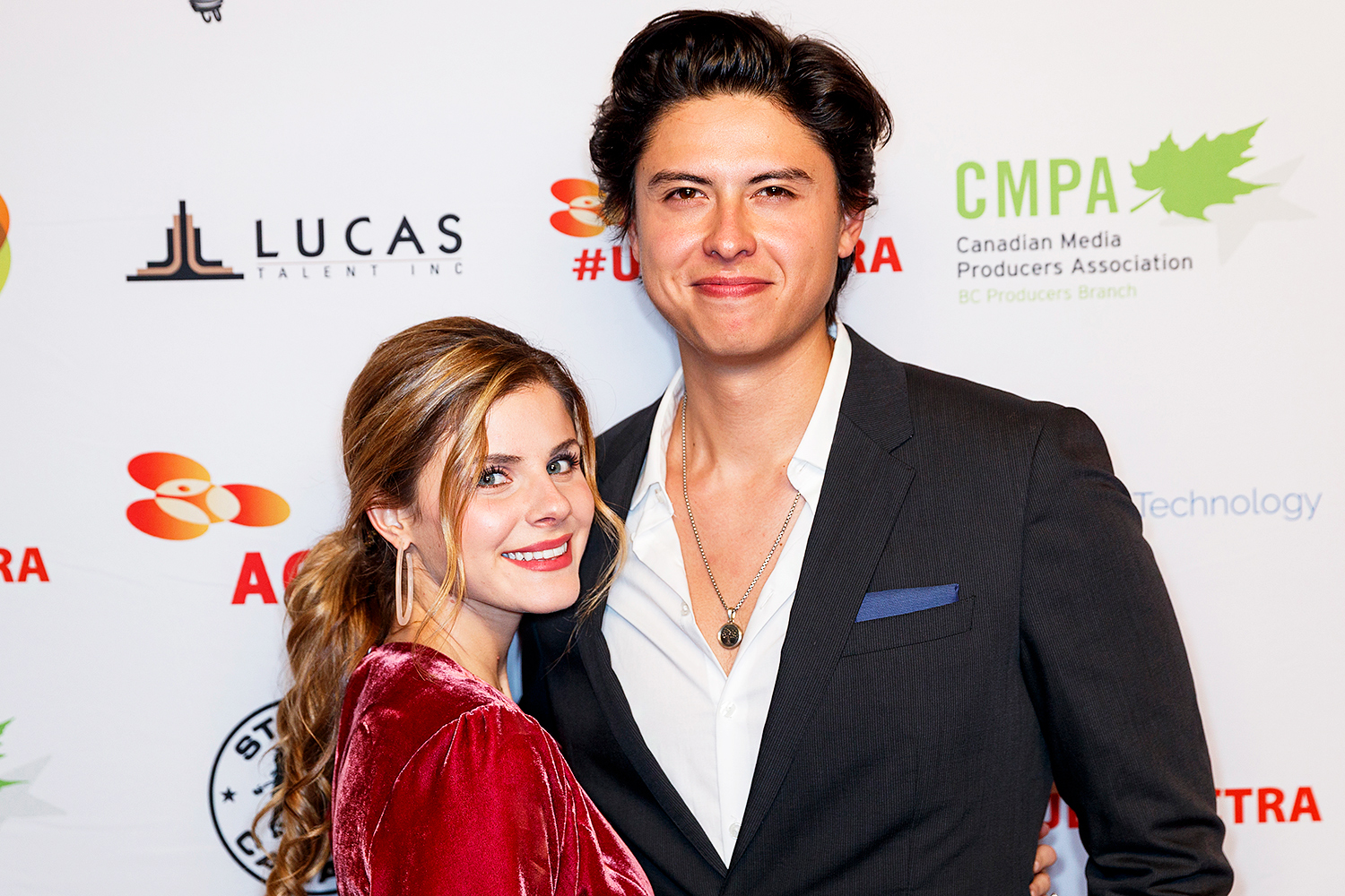 Jinjara Mitchell and Jordan Connor attend the 8th Annual UBCP/ACTRA Awards at Vancouver Playhouse on November 23, 2019 in Vancouver, Canada.