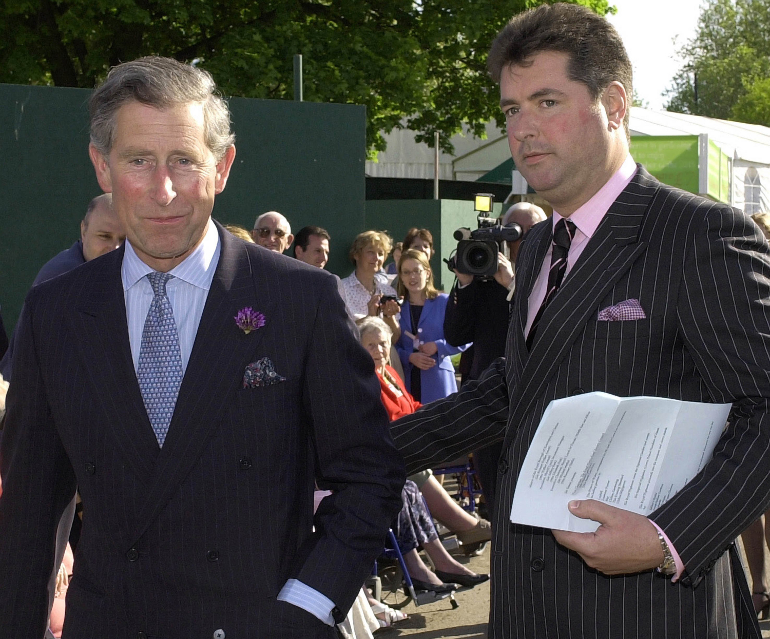 Prince Charles with his valet Michael Fawcett