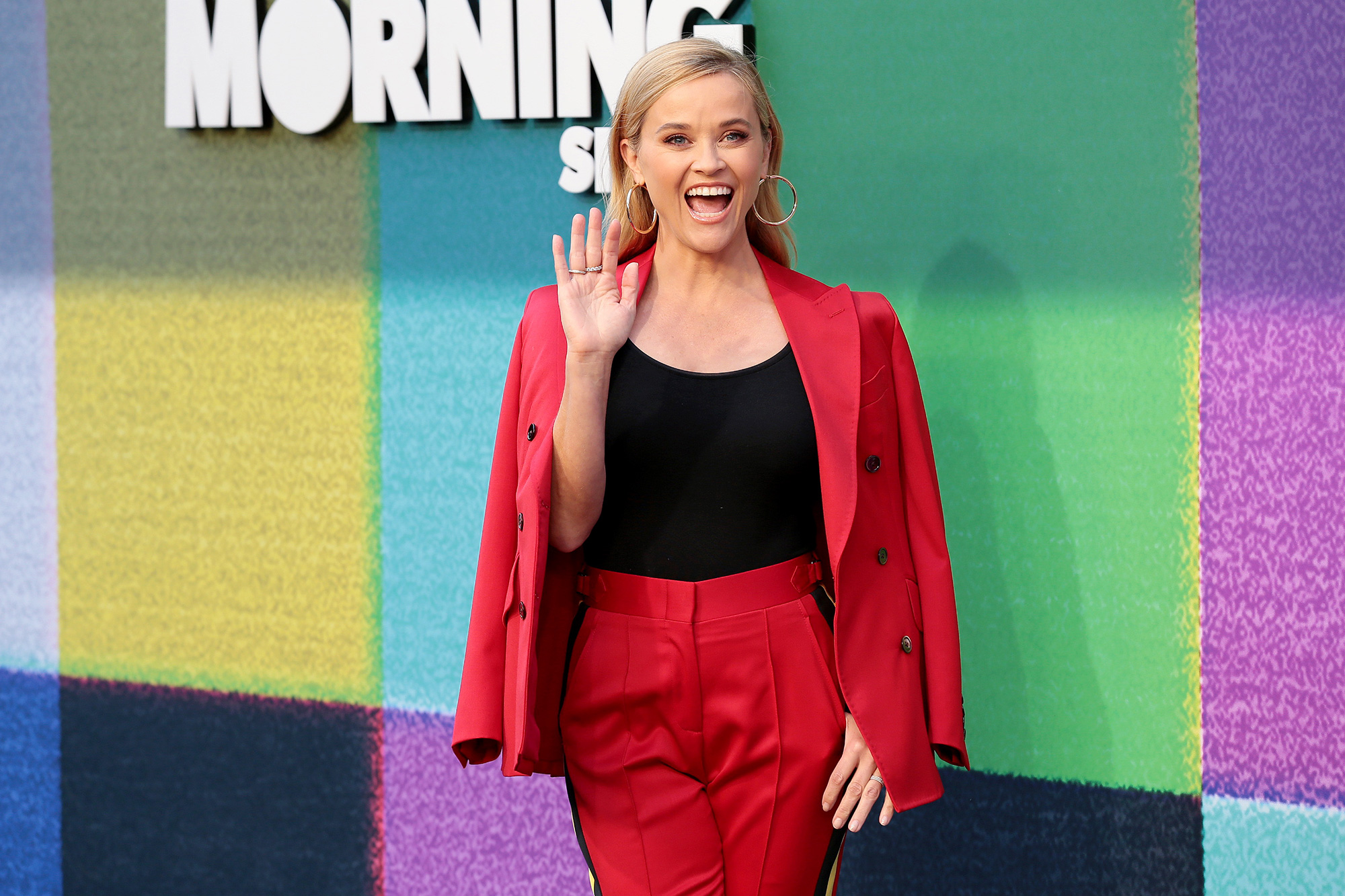 """Reese Witherspoon attends Apple TV+'s """"The Morning Show"""" Photo Call at Four Seasons Hotel Los Angeles at Beverly Hills on September 08, 2021 in Los Angeles, California"""