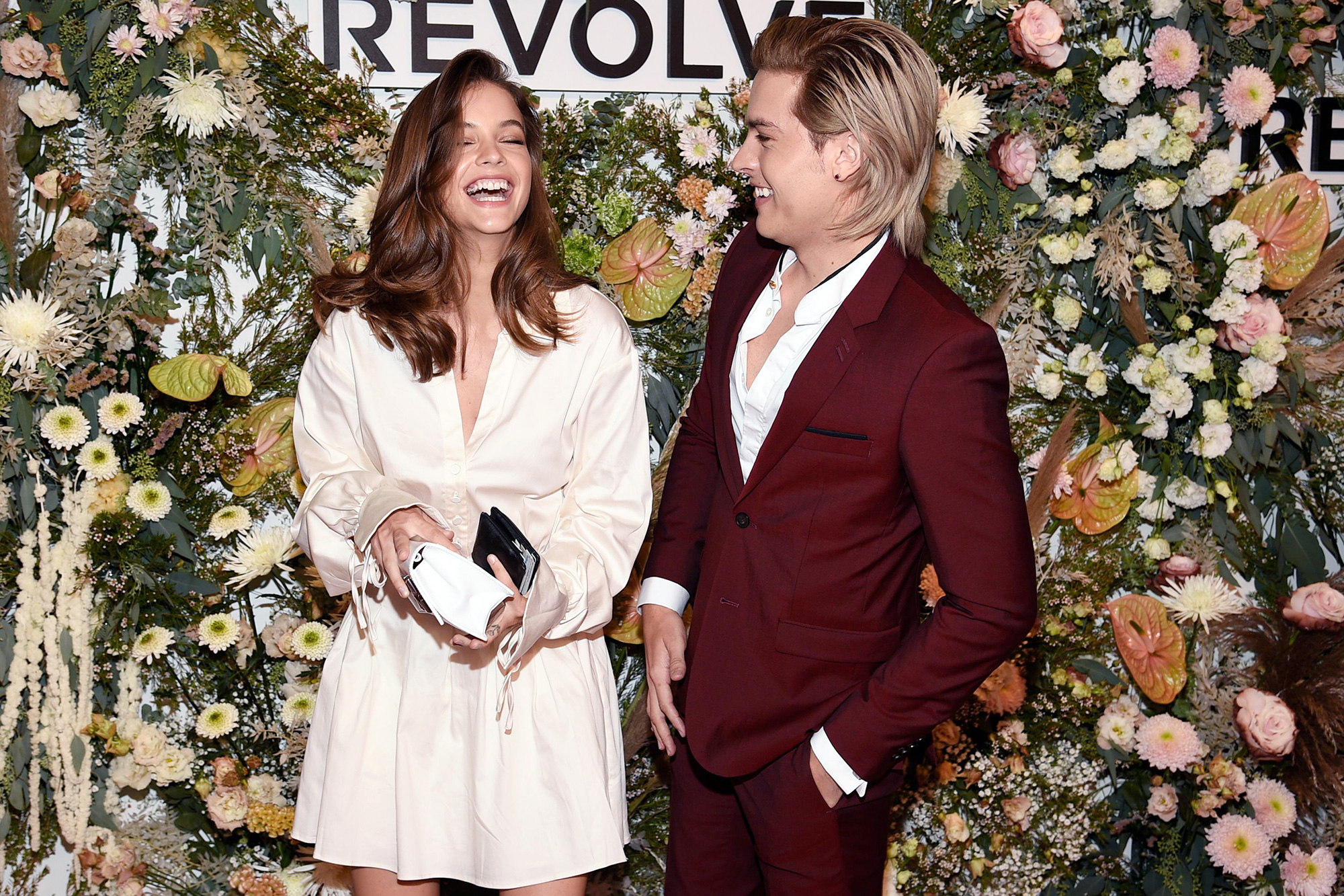 Barbara Palvin, left, and Dylan Sprouse attend the Revolve Gallery New York Fashion Week event at Hudson Yards, in New York Revolve Gallery NYFW Event, New York, United States - 09 Sep 2021