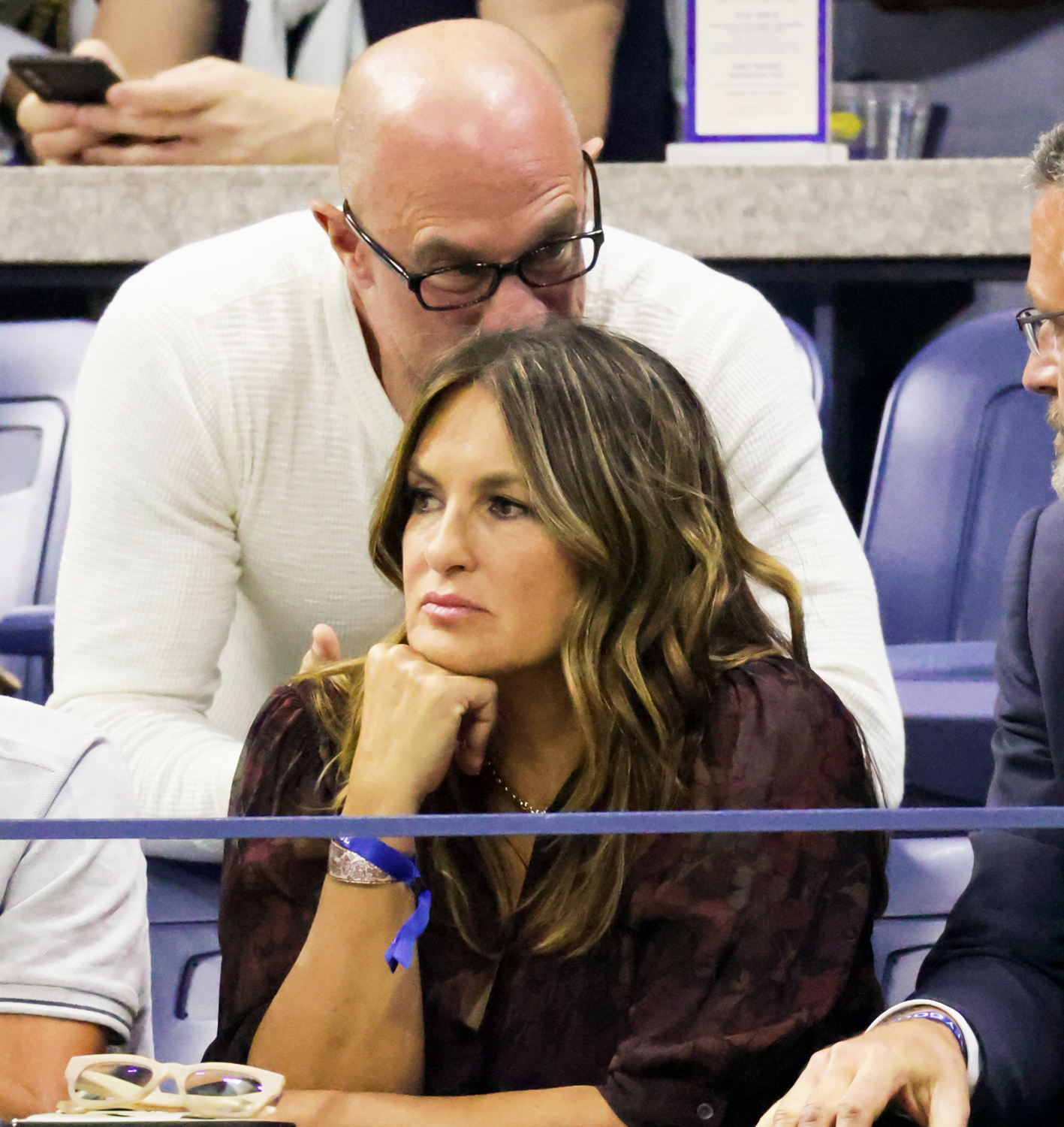 Mariska Hargitay and Chris Meloni in the Grey Goose Suite at the 2021 US Open, Friday, Sep. 10, 2021 in Flushing, NY.