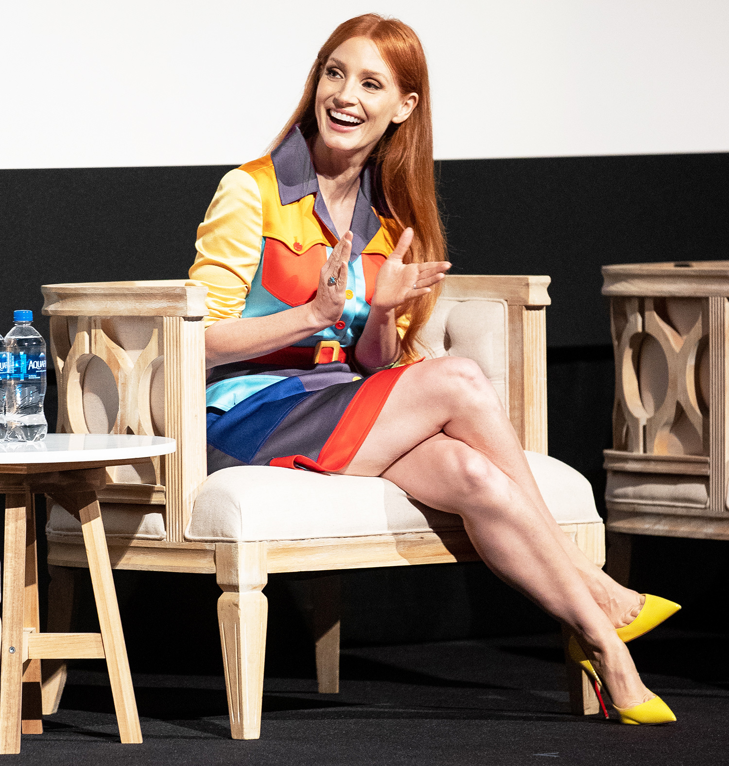 Jessica Chastain attends the 2021 TIFF Tribute Awards Press Conference at Roy Thomson Hall on September 11, 2021 in Toronto, Ontario.