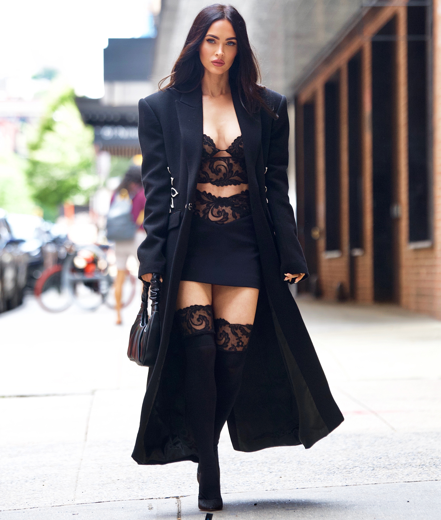 Megan Fox Sets Pulses Racing in Black Lace as She Heads to a Secret Fitting in NYC, New York, USA - 11 Sep 2021
