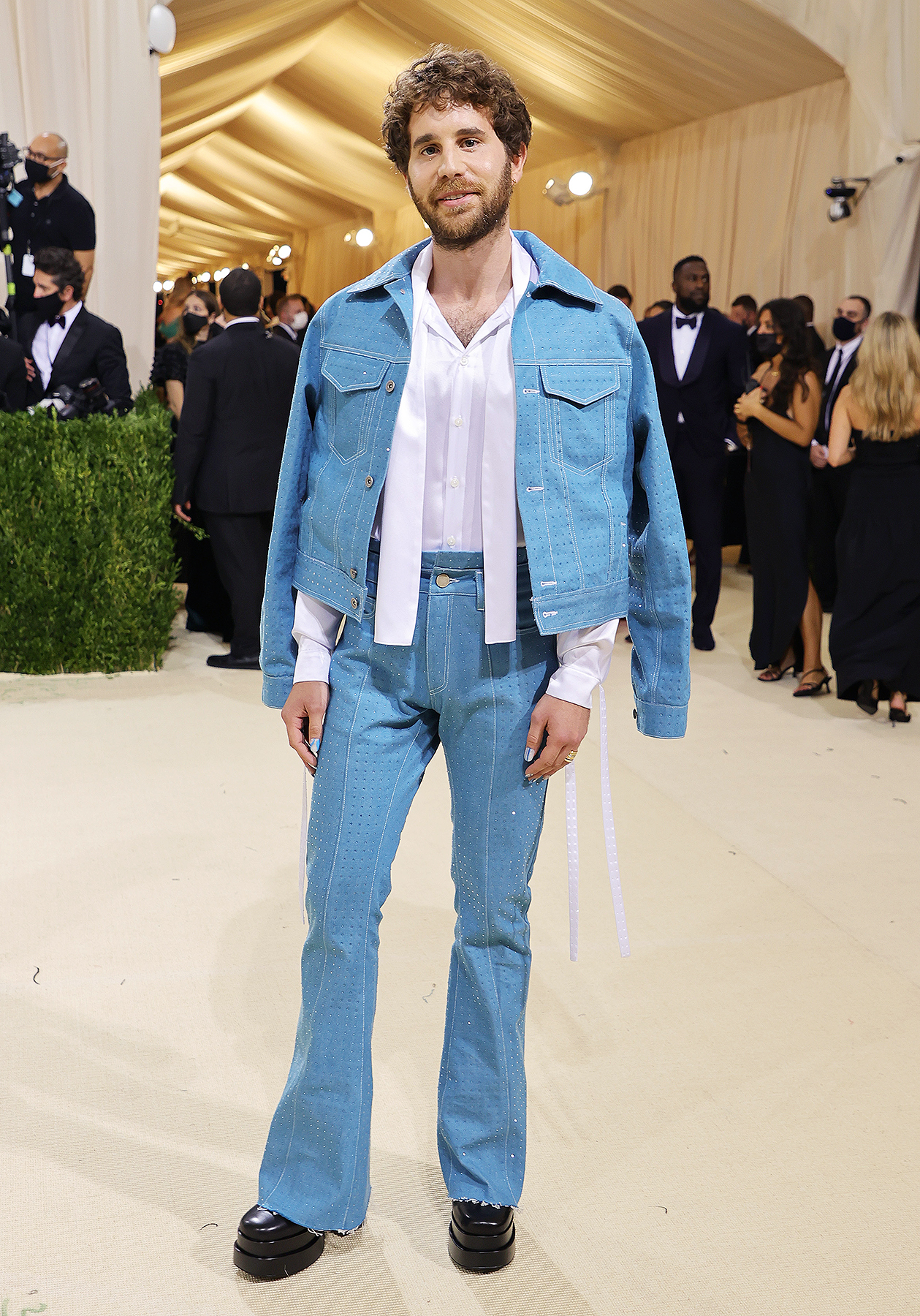 Ben Platt attends The 2021 Met Gala Celebrating In America: A Lexicon Of Fashion at Metropolitan Museum of Art on September 13, 2021 in New York City.