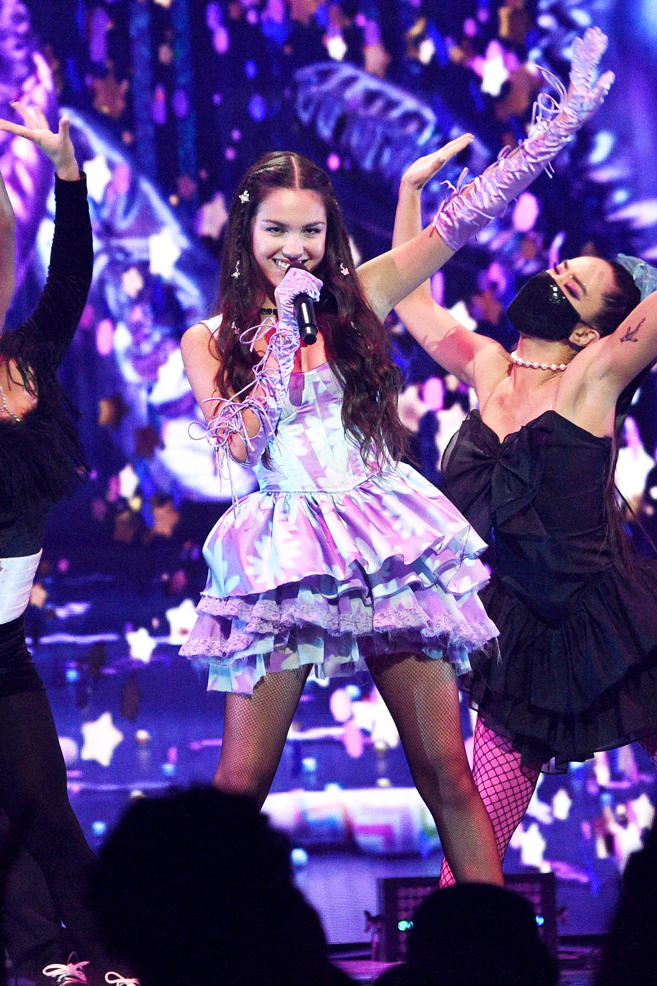 Olivia Rodrigo performs onstage during the 2021 MTV Video Music Awards at Barclays Center on September 12, 2021 in the Brooklyn borough of New York City