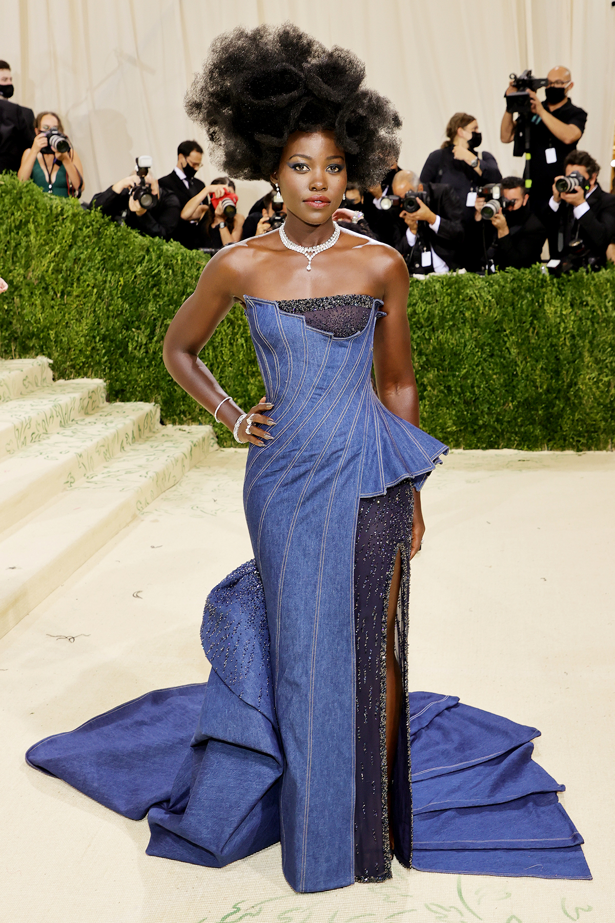 Lupita Nyong'o attends The 2021 Met Gala Celebrating In America: A Lexicon Of Fashion at Metropolitan Museum of Art on September 13, 2021