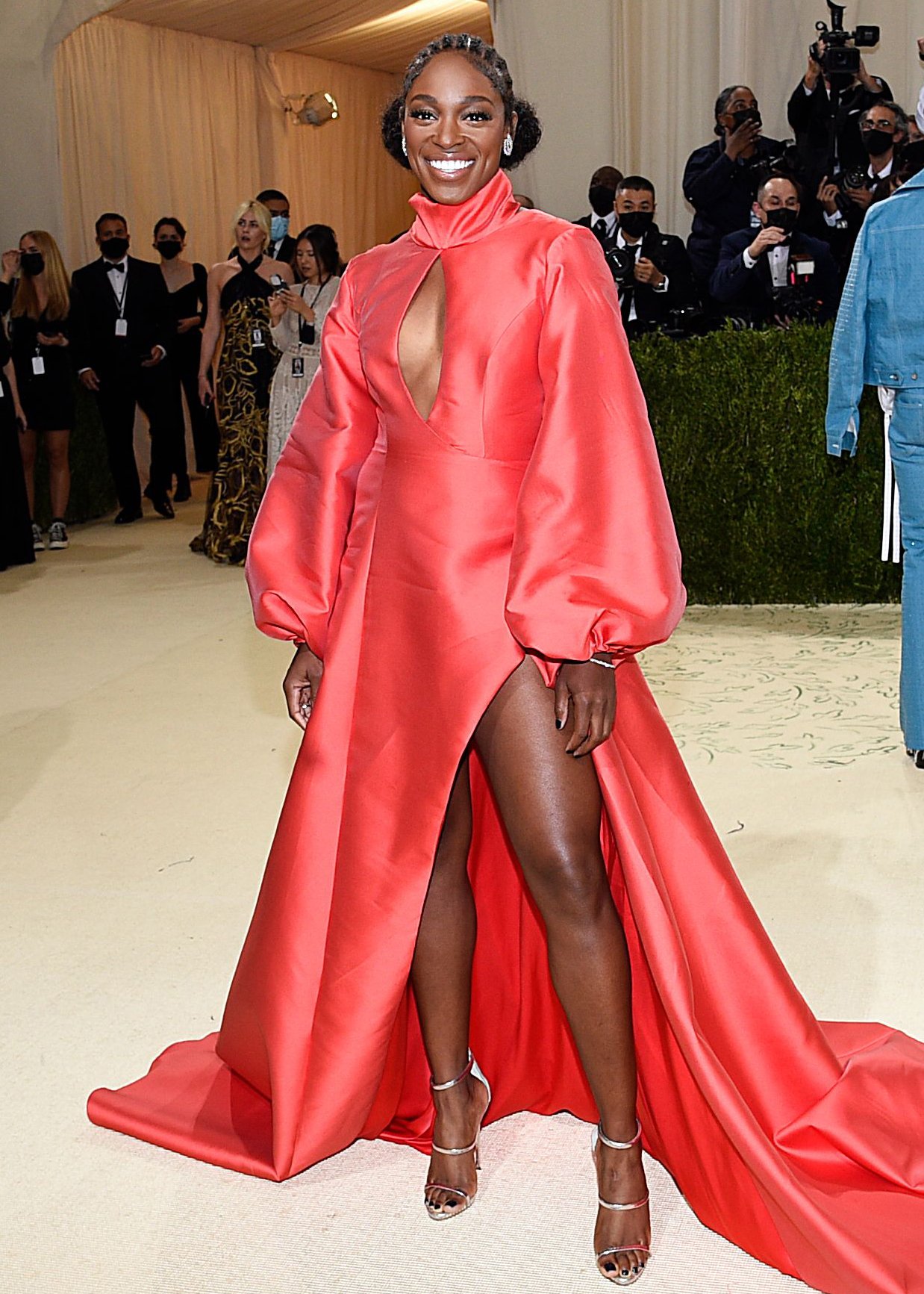 """Sloane Stephens attends The Metropolitan Museum of Art's Costume Institute benefit gala celebrating the opening of the """"In America: A Lexicon of Fashion"""" exhibition, in New York 2021 MET Museum Costume Institute Benefit Gala, New York, United States - 13 Sep 2021"""
