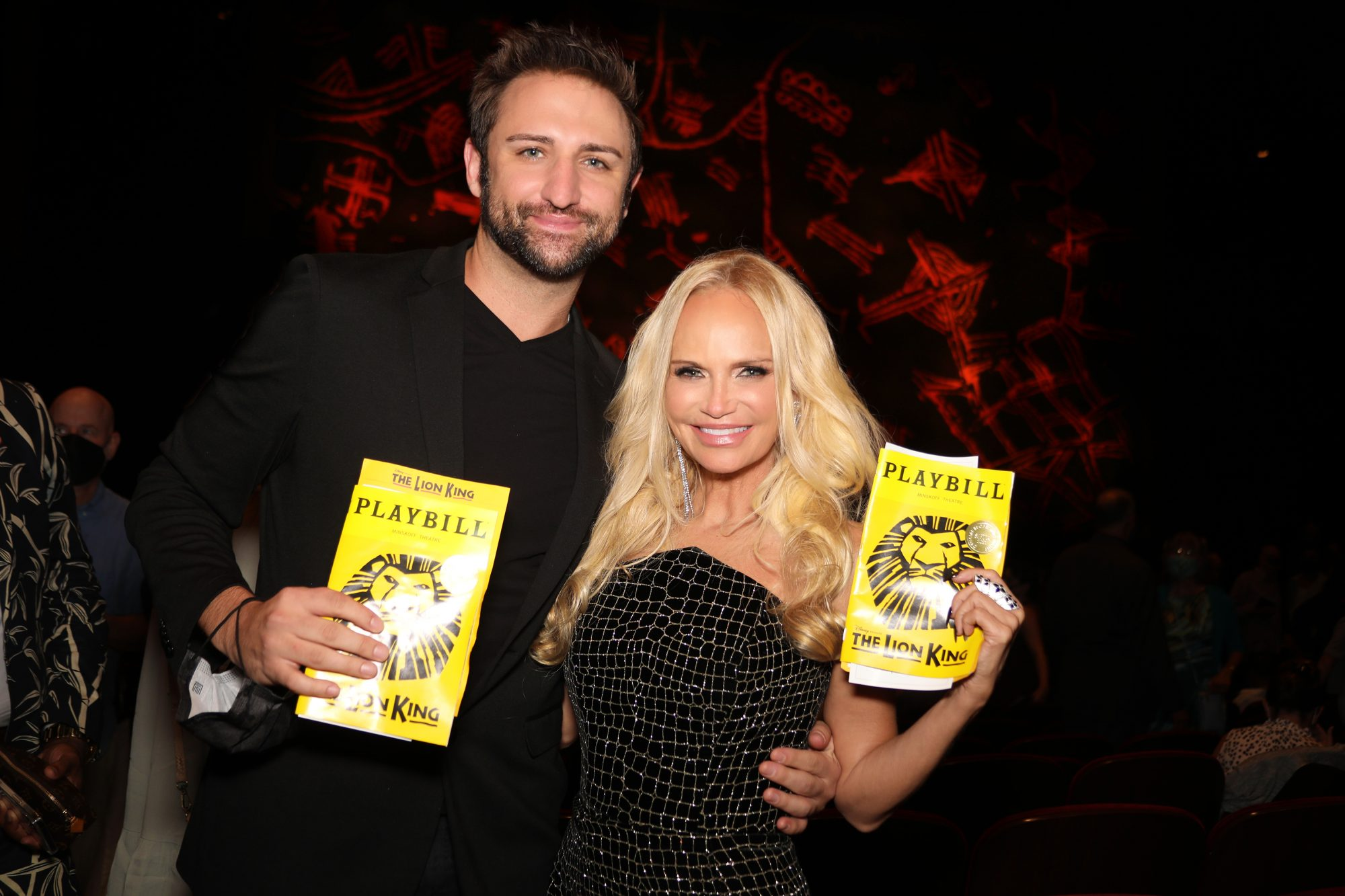 Josh Bryant and Kristin Chenoweth attend the reopening of 'The Lion King' on Broadway