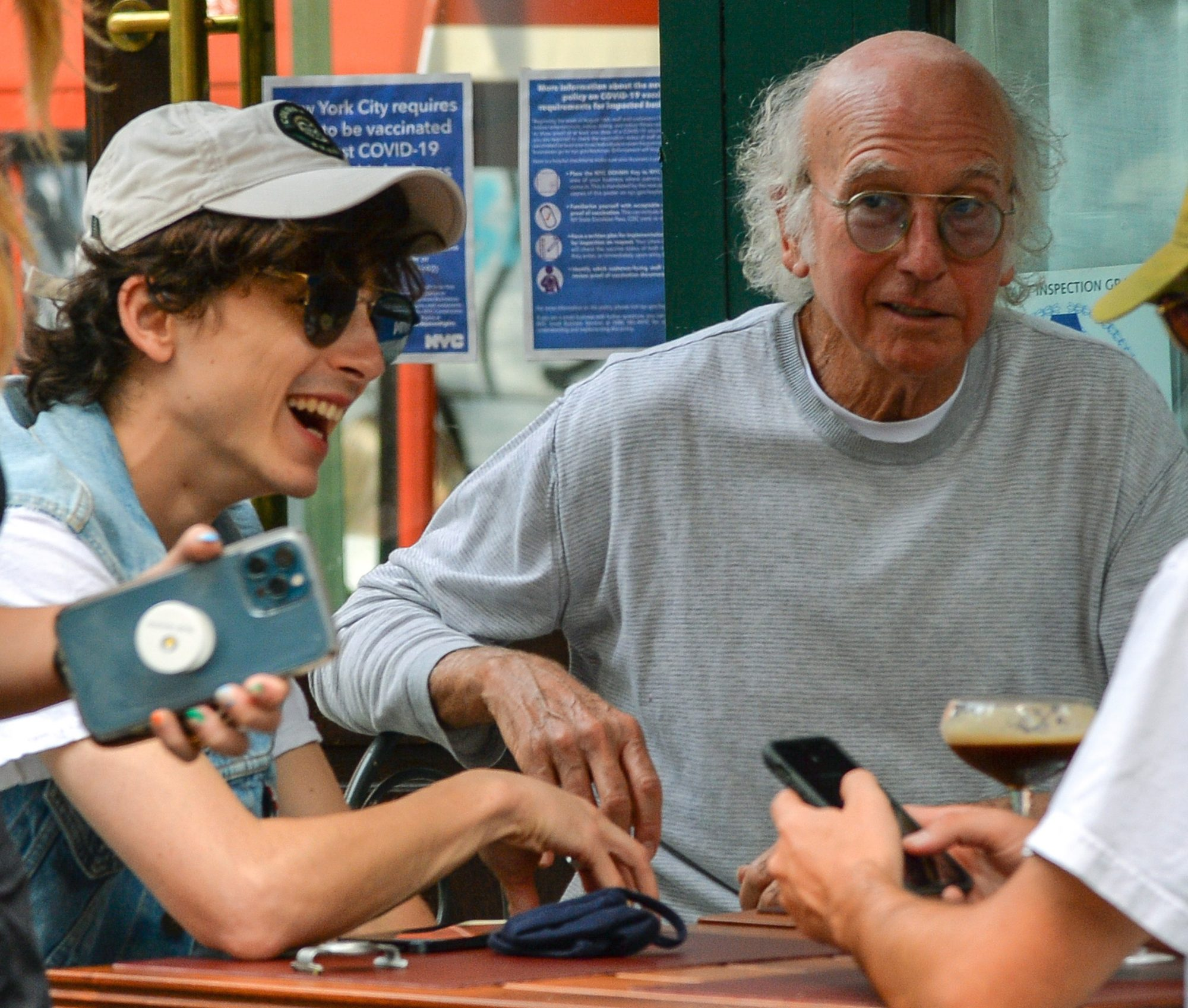 larry david and timothee chalamet
