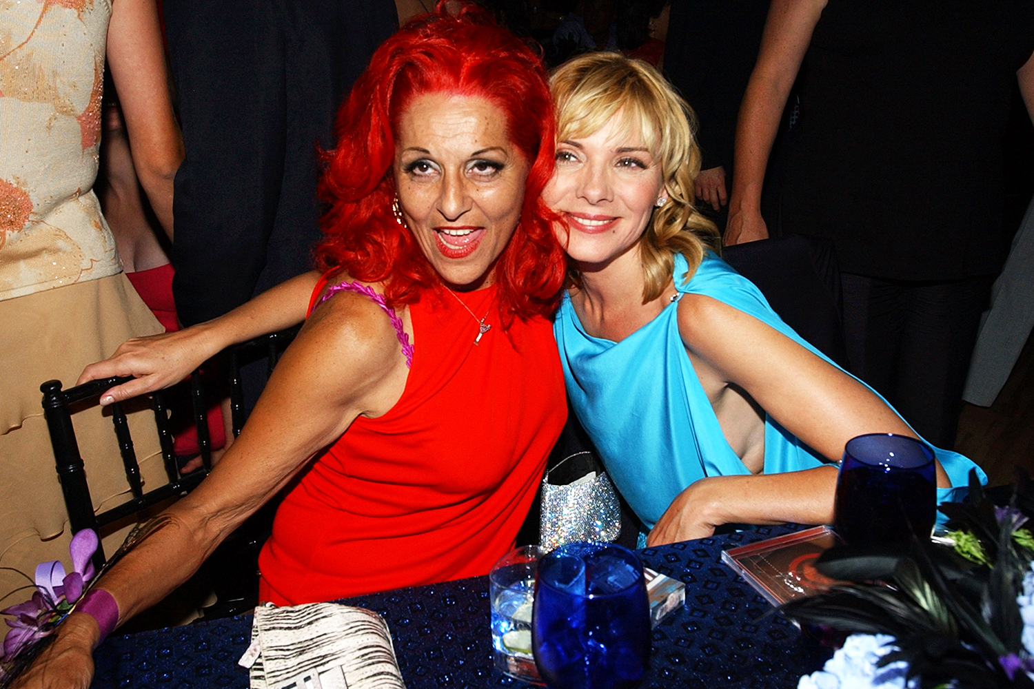 """Patricia Field and Kim Cattrall during HBO's """"Sex and The City"""" Fifth Season Premiere - After-Party at American Museum of Natural History Theater in New York City, New York, United States."""