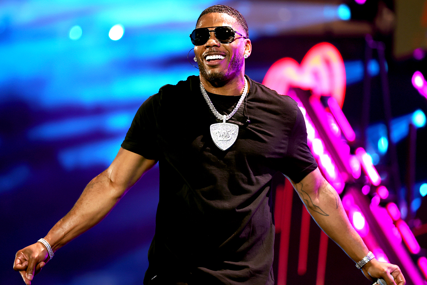 Nelly performs onstage during the 2021 iHeartRadio Music Festival on September 17, 2021 at T-Mobile Arena in Las Vegas, Nevada.