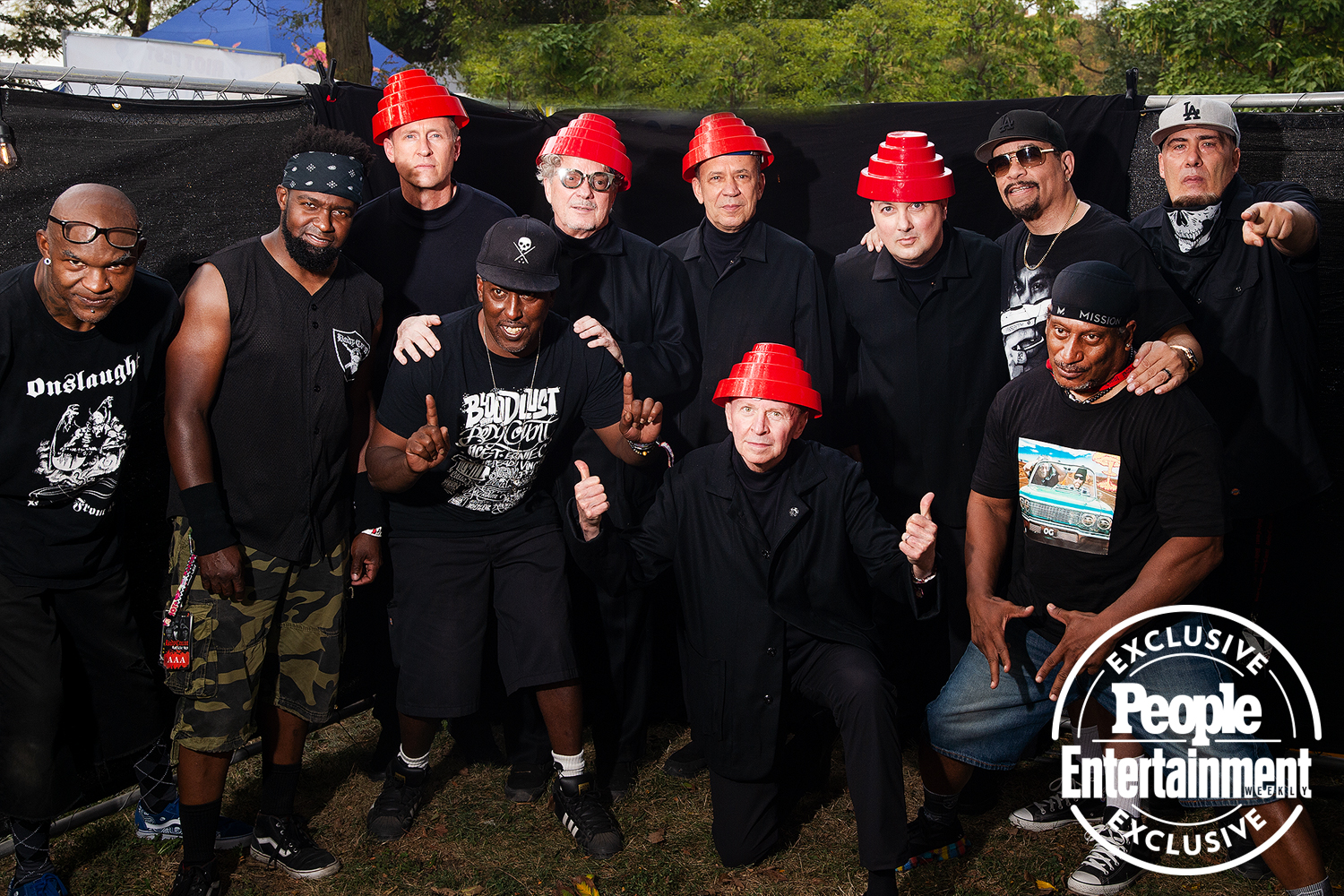 Devo and Body Count photographed at Riot Fest 2021