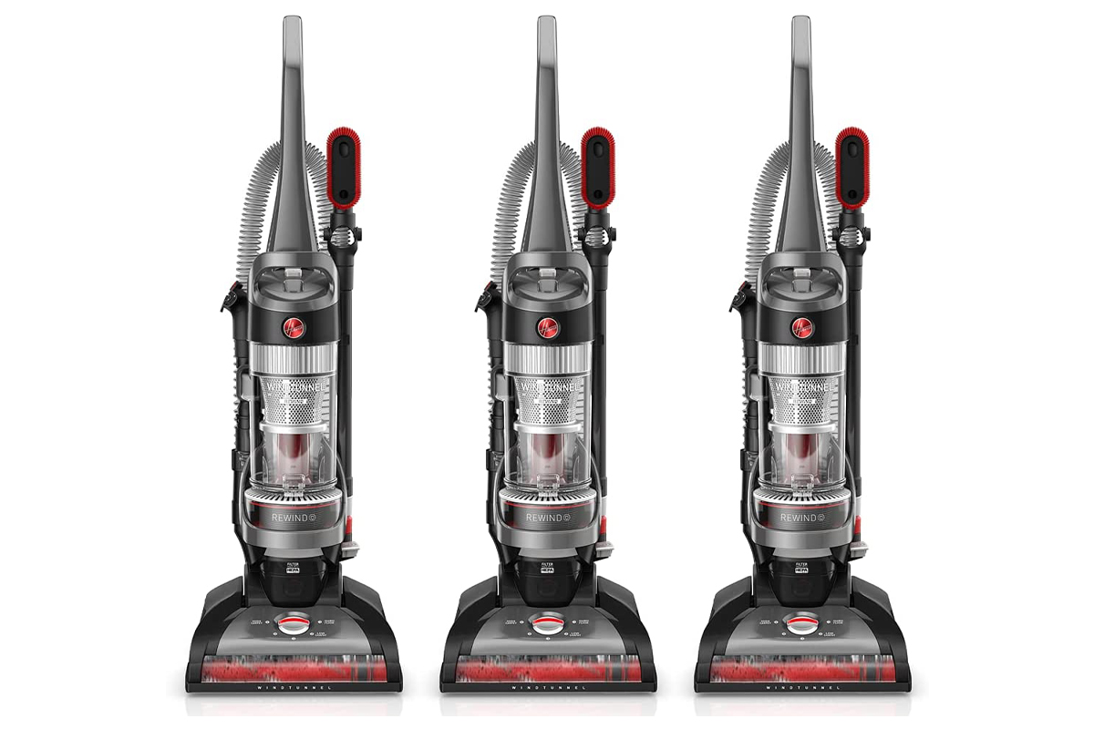 Hoover WindTunnel Whole House Rewind Corded Bagless Upright Vacuum Cleaner