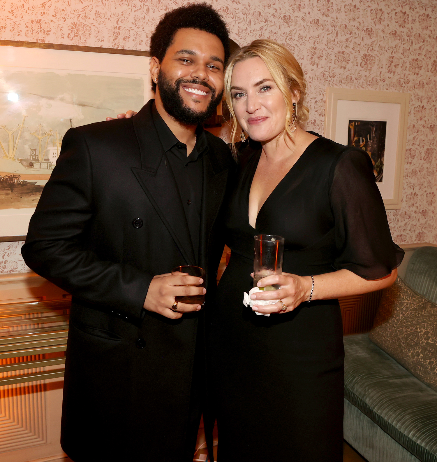 The Weeknd and Kate Winslet attend the HBO/ HBO Max Post Emmys Reception