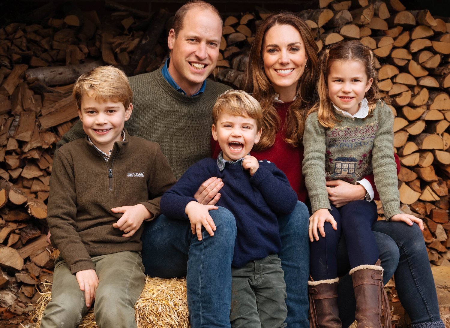 Prince William and Catherine Duchess of Cambridge Christmas card