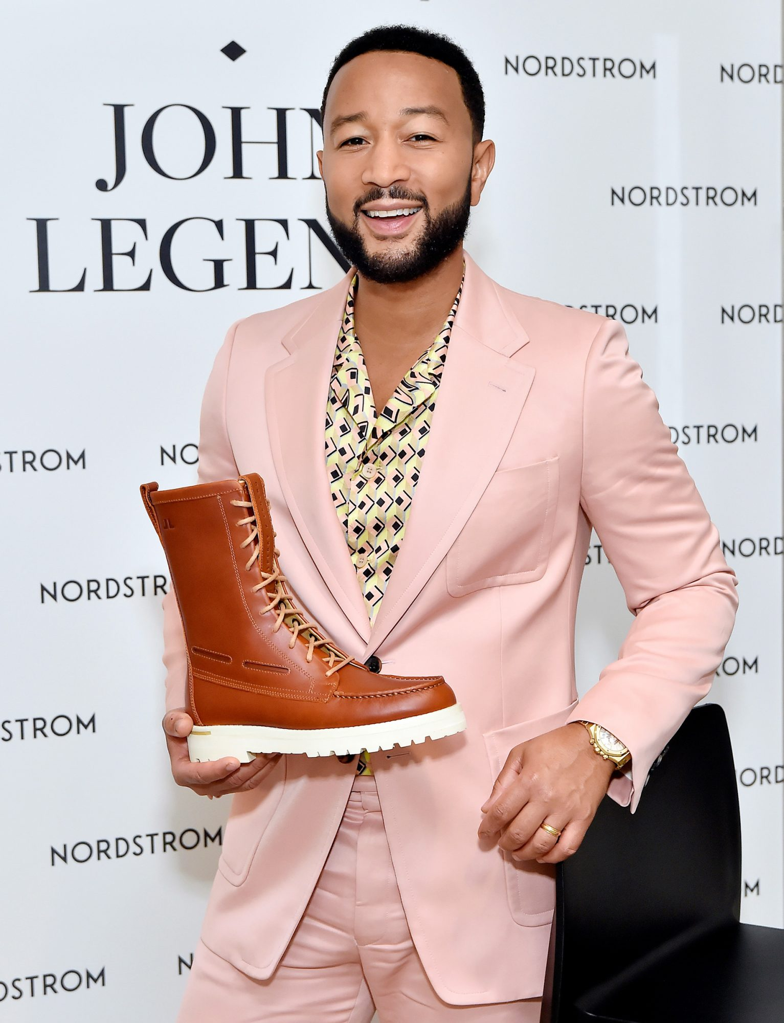 John Legend attends the Sperry x John Legend Collection Launch at Nordstrom at the Grove on September 20, 2021 in Los Angeles, California.