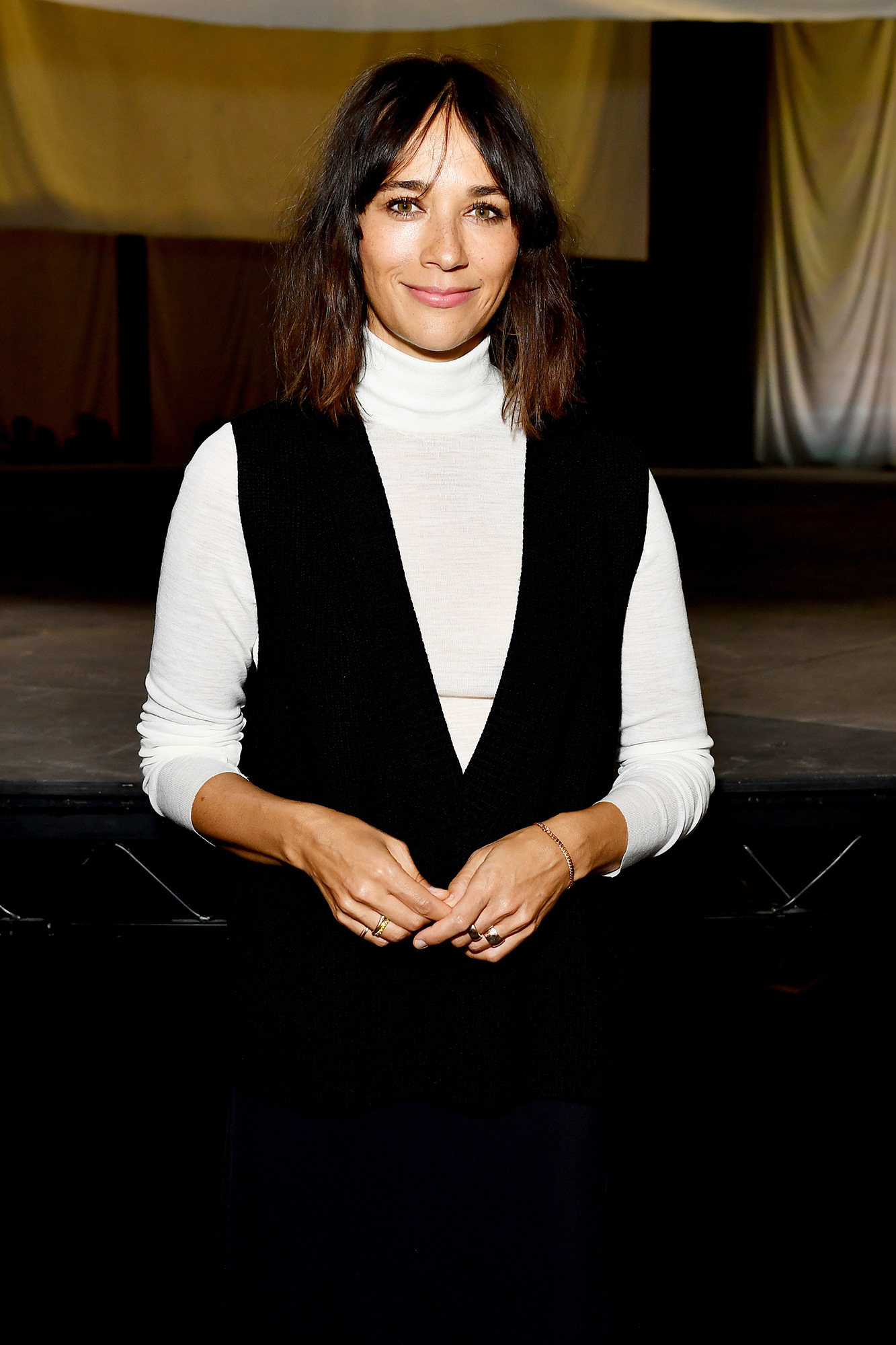 Rashida Jones attends the COS show at The Roundhouse during London Fashion Week September 2021 on September 21, 2021 in London, England.