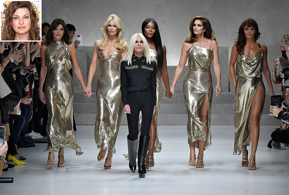 Versace Ready to Wear Spring/Summer 2018 fashion show during Milan Fashion Week Spring/Summer 2018 on September 22, 2017 in Milan, Italy.