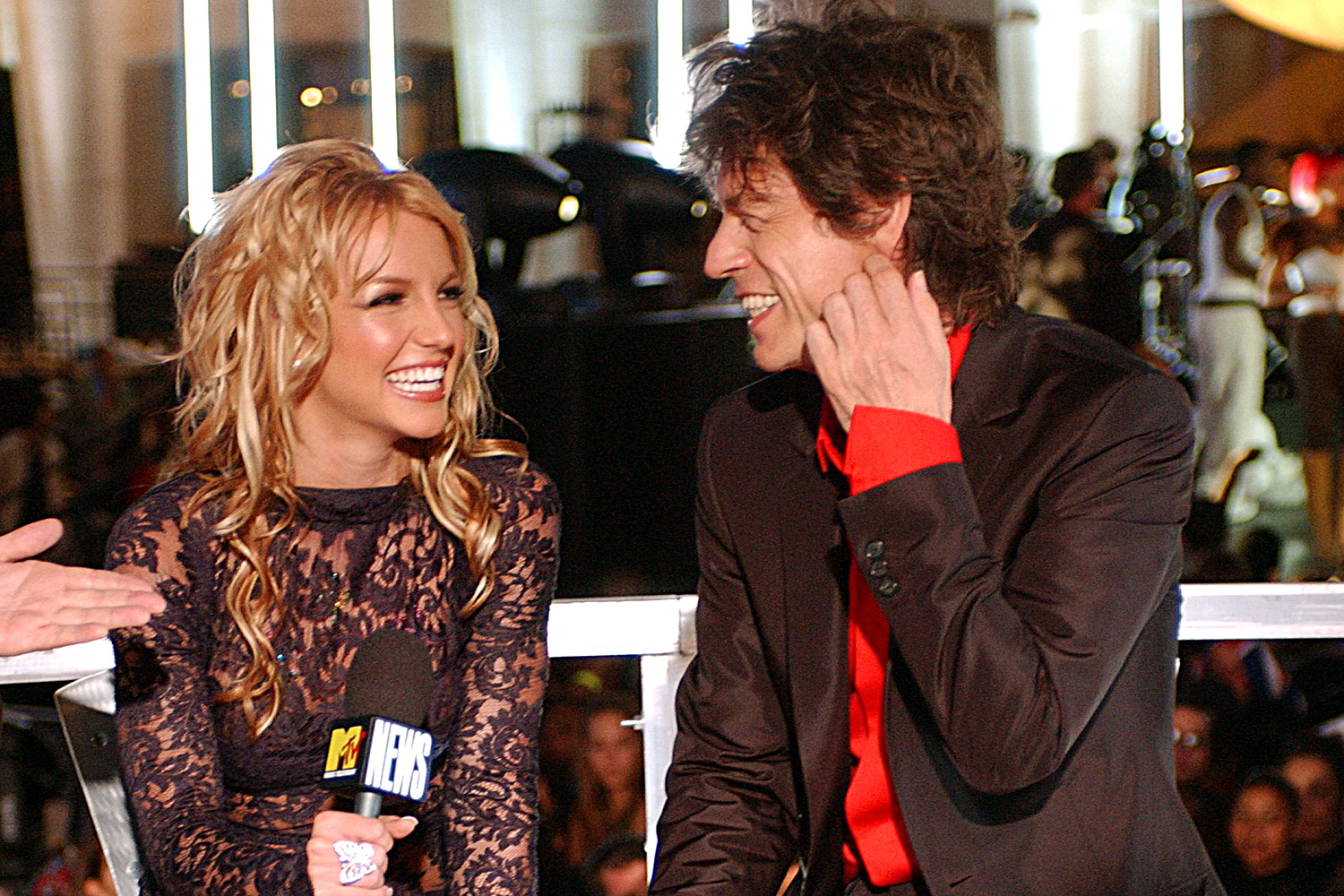 Britney Spears and Mick Jagger