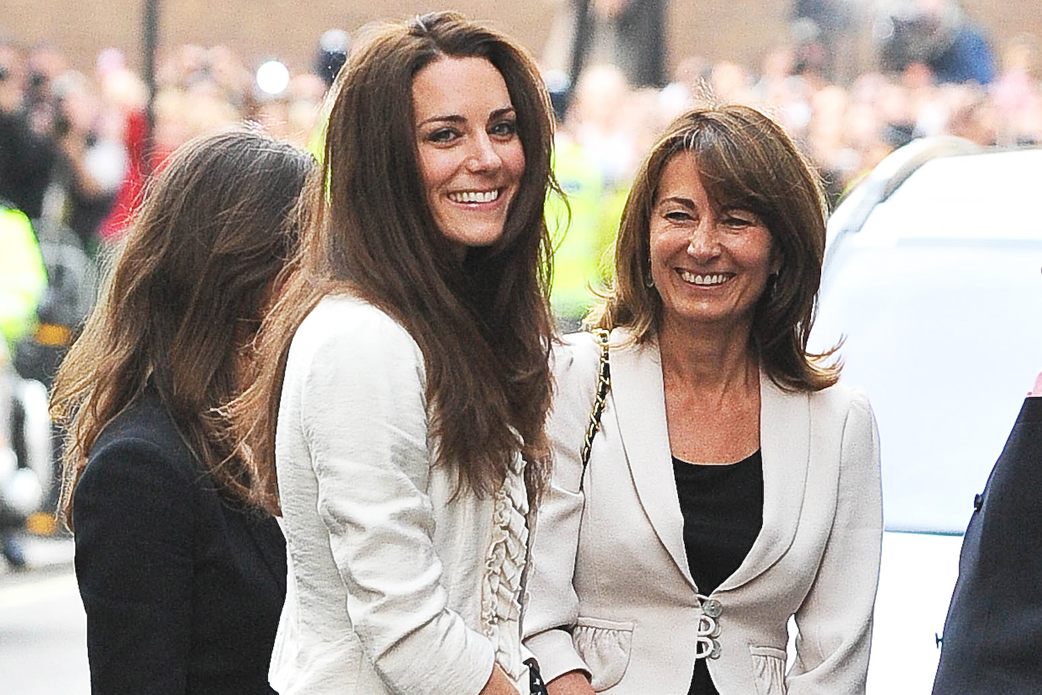 Catherine Middleton arriving with her mother Carole Middleton at the Goring Hotel on April 28, 2011 in London, England.