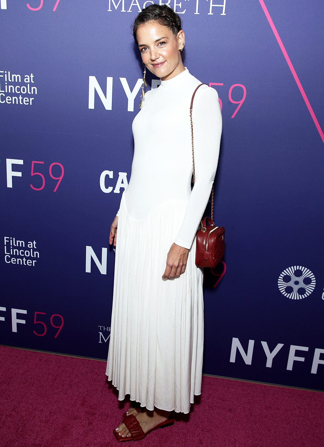 Katie Holmes attends the opening night screening of The Tragedy Of Macbeth during the 59th New York Film Festival on September 24, 2021 in New York City.