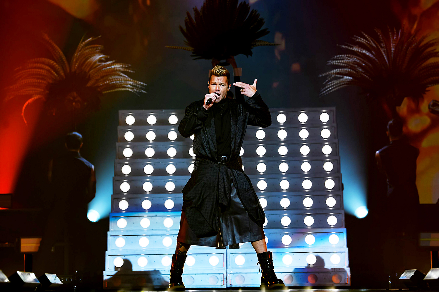 Ricky Martin performs onstage at MGM Grand Garden Arena on September 25, 2021 in Las Vegas, Nevada.