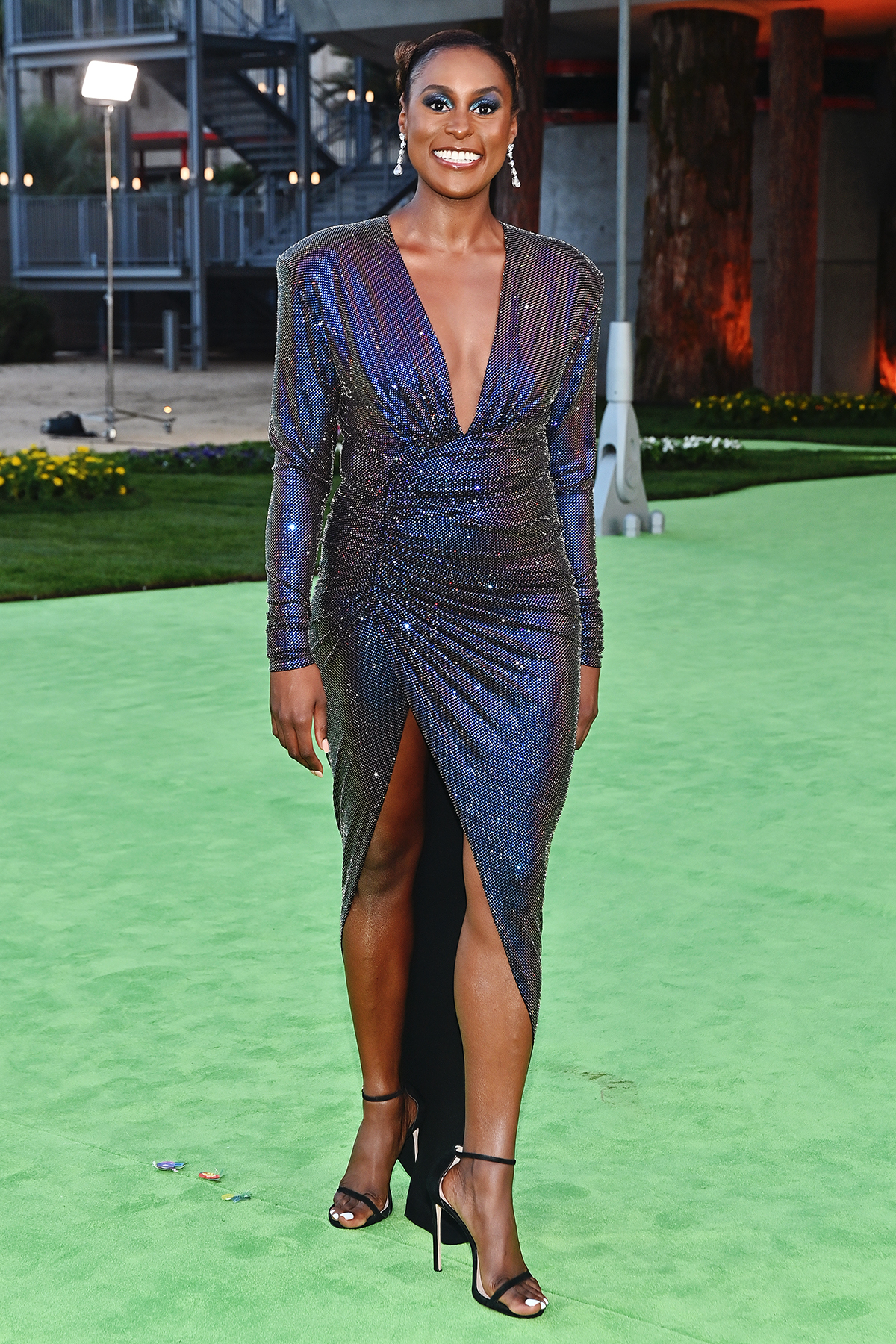 Arrivals on the green carpet of the Academy Museum of Motion Pictures Opening Gala