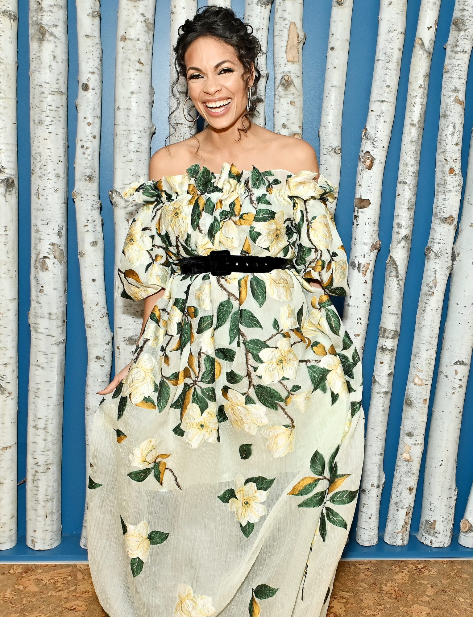 """Rosario Dawson attends the Washington, DC premiere of """"Dopesick"""" at The Aspen Institute on October 07, 2021 in Washington, DC"""