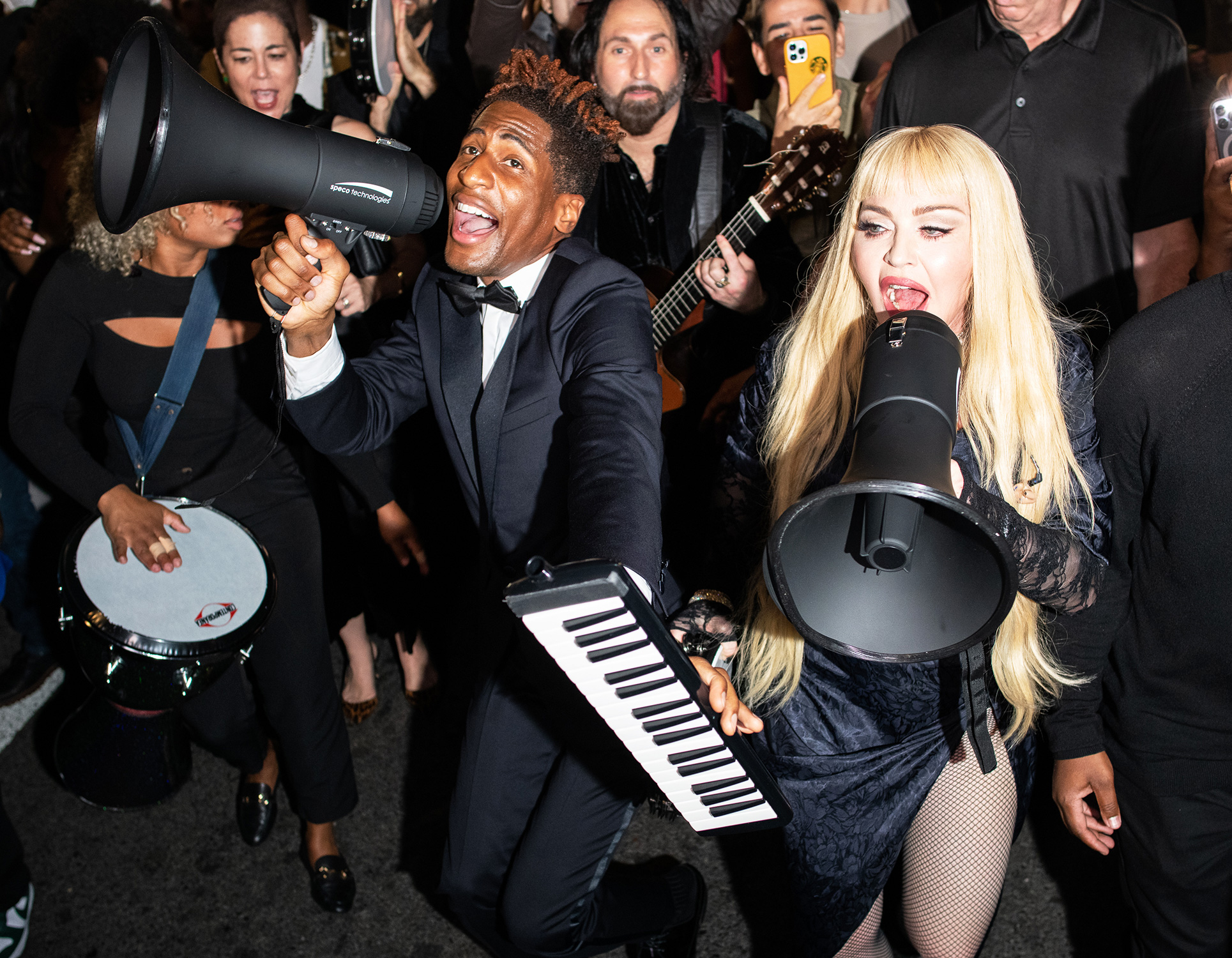 Jon Batiste, Madonna attend Madame X Late Nite Supper Club at Ginny's Supper Club at Red Rooster, NYC on Fri, Oct 8 2021.