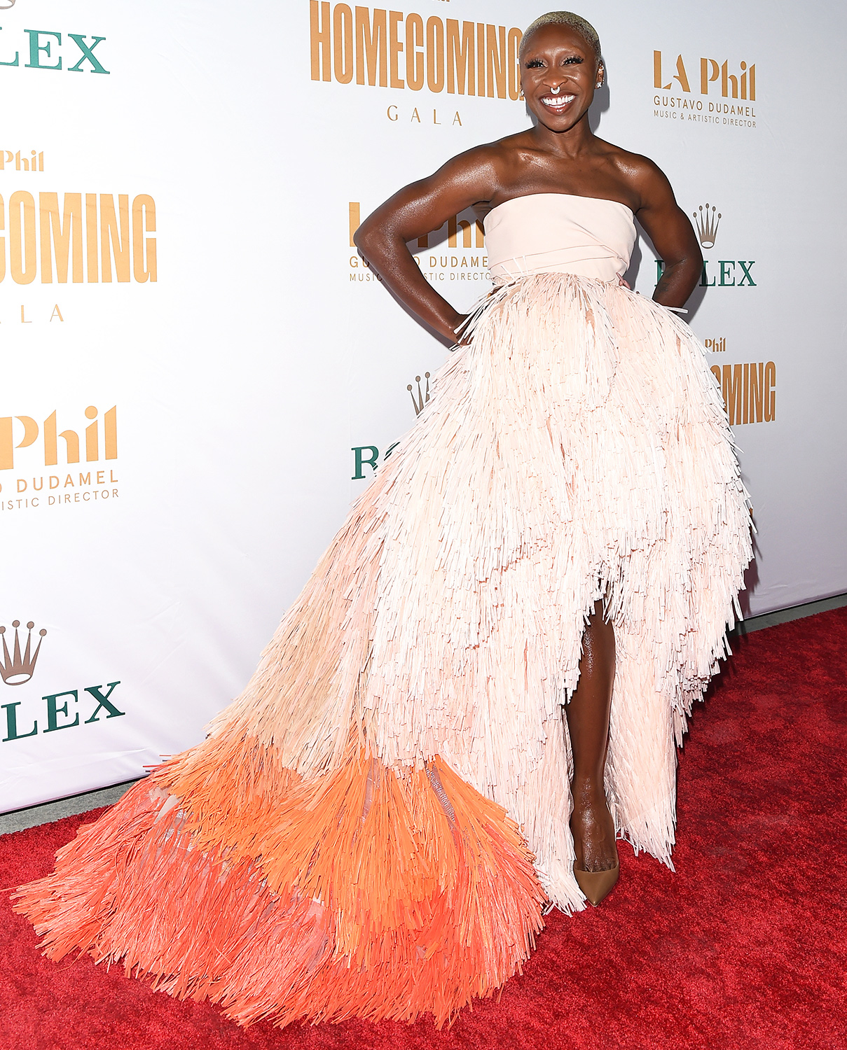 Cynthia Erivo attends the Los Angeles Philharmonic Homecoming Concert & Gala at Walt Disney Concert Hall on October 09, 2021 in Los Angeles, California.