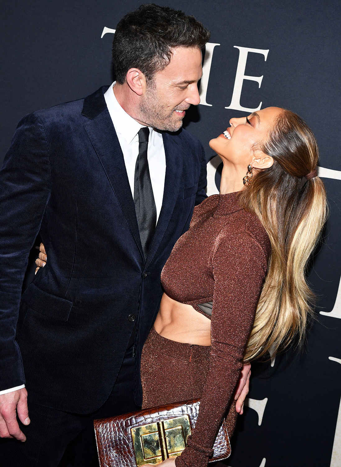 Ben Affleck and Jennifer Lopez attend The Last Duel New York Premiere on October 09, 2021 in New York City.