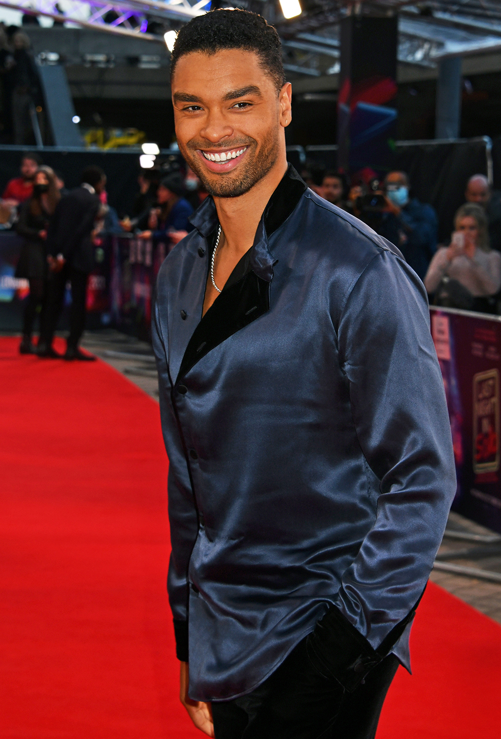 """Rege-Jean Page attends the UK Premiere of """"Last Night In Soho"""" during the 65th London Film Festival at The Royal Festival Hall on October 9, 2021 in London, England."""