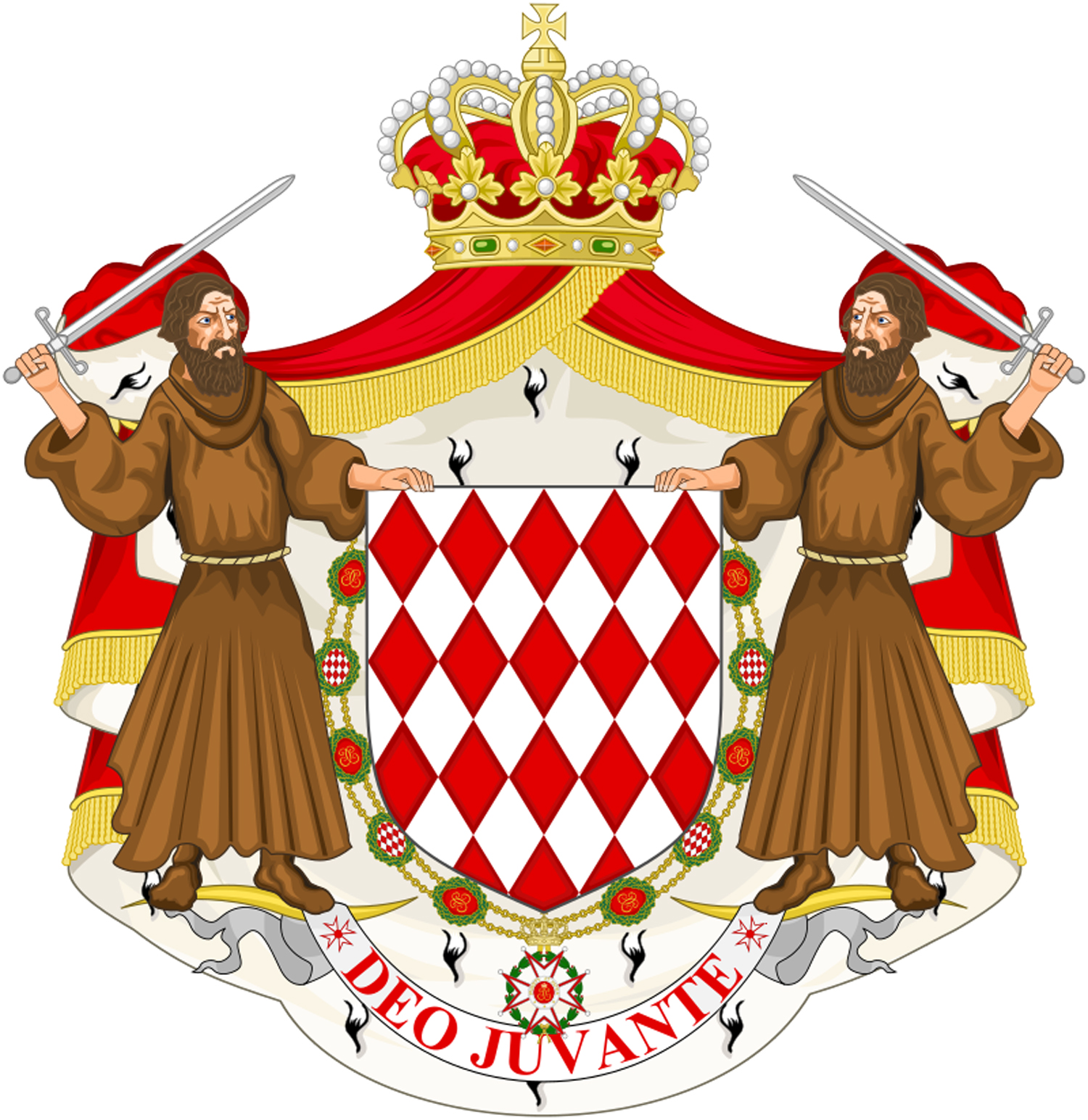 Great coat of arms of the house of Grimaldi