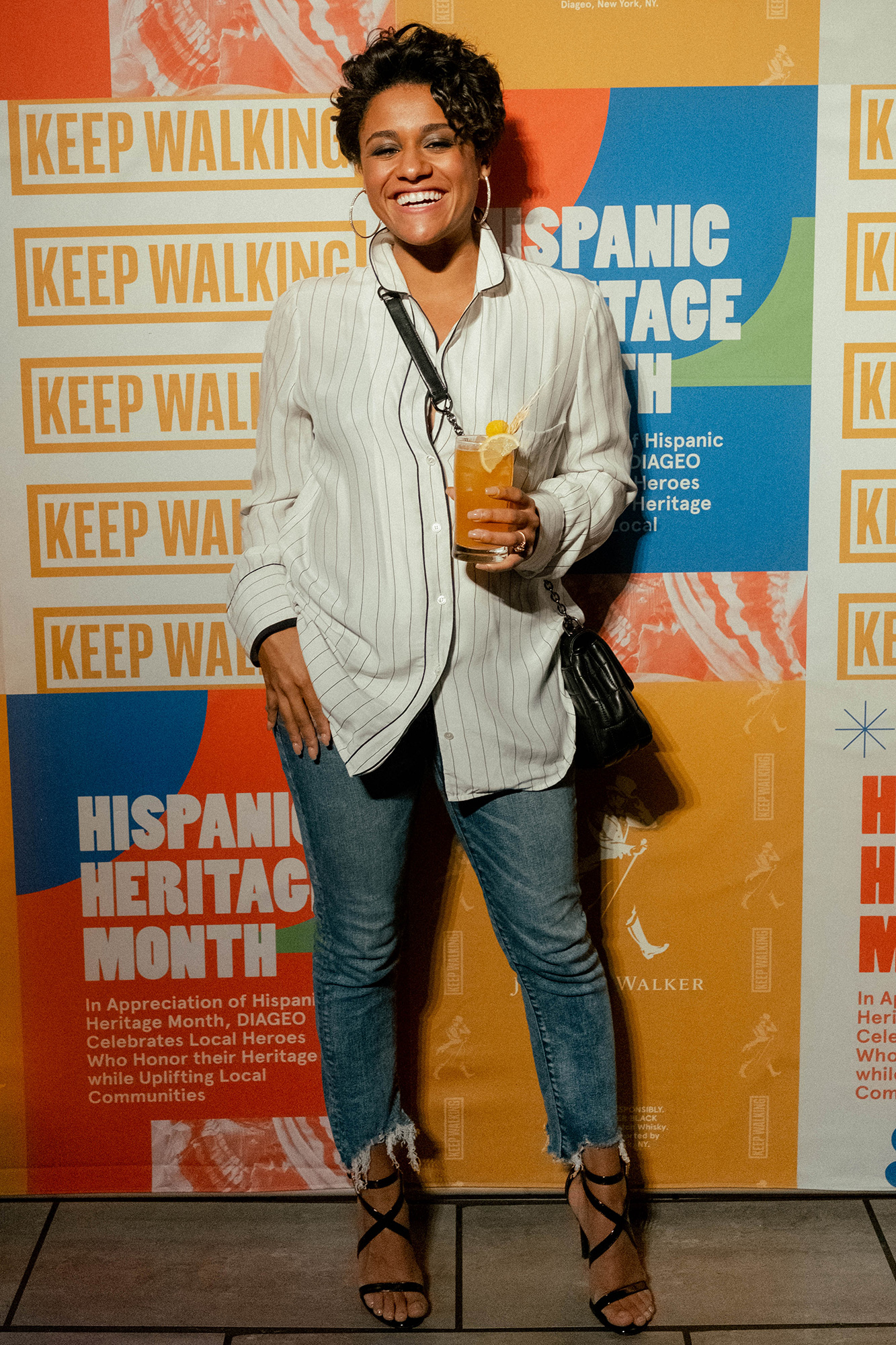 Actress Ariana DeBose Toasts to Hispanic Heritage Month with DIAGEO and its brand Johnnie Walker at an event in Bronx, New York