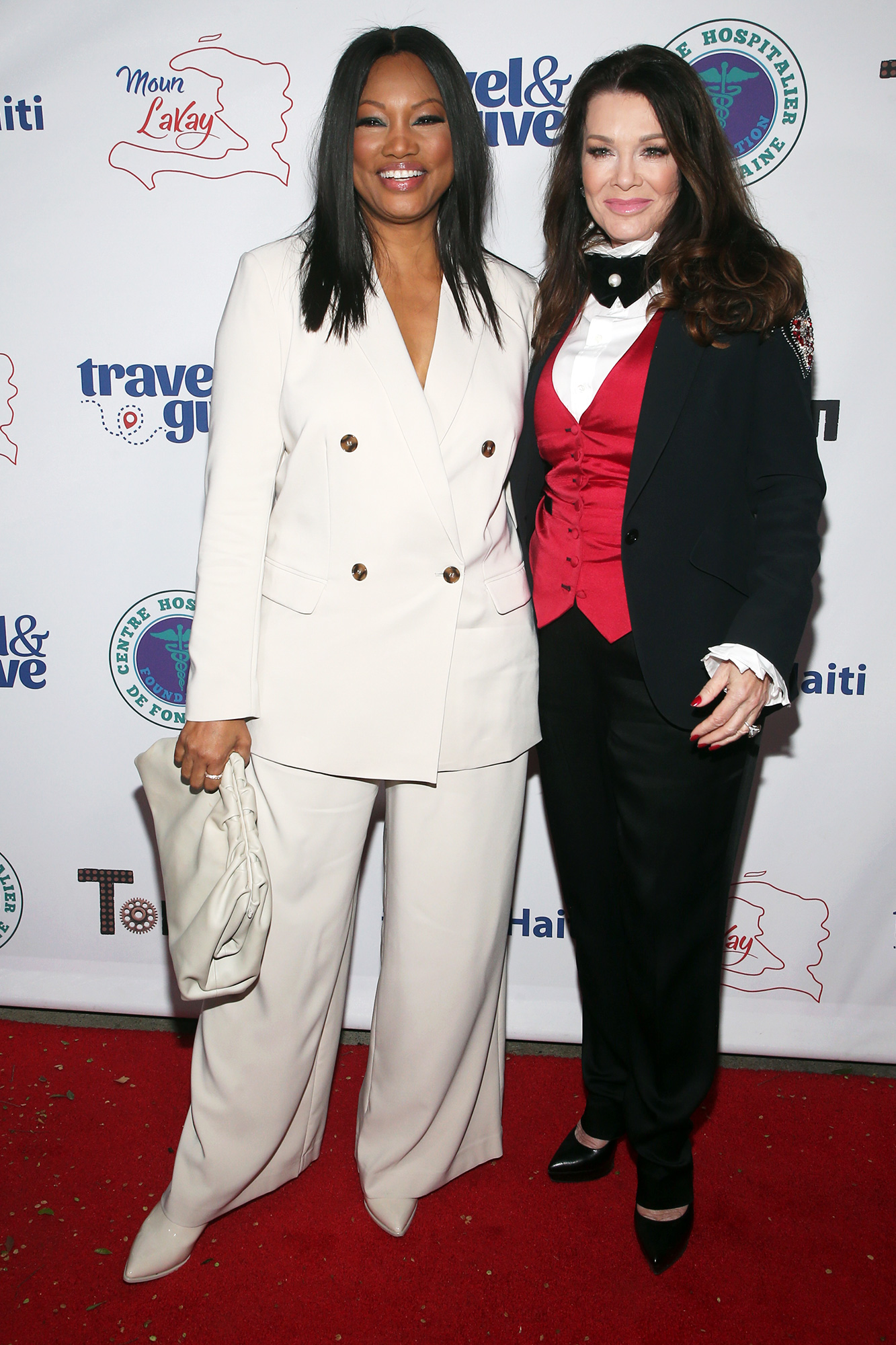 Garcelle Beauvais and Lisa Vanderpump at Travel & Give's 4th Annual Travel With A Purpose Fundraiser at Tom Tom in West Hollywood, California on October 11, 2021.