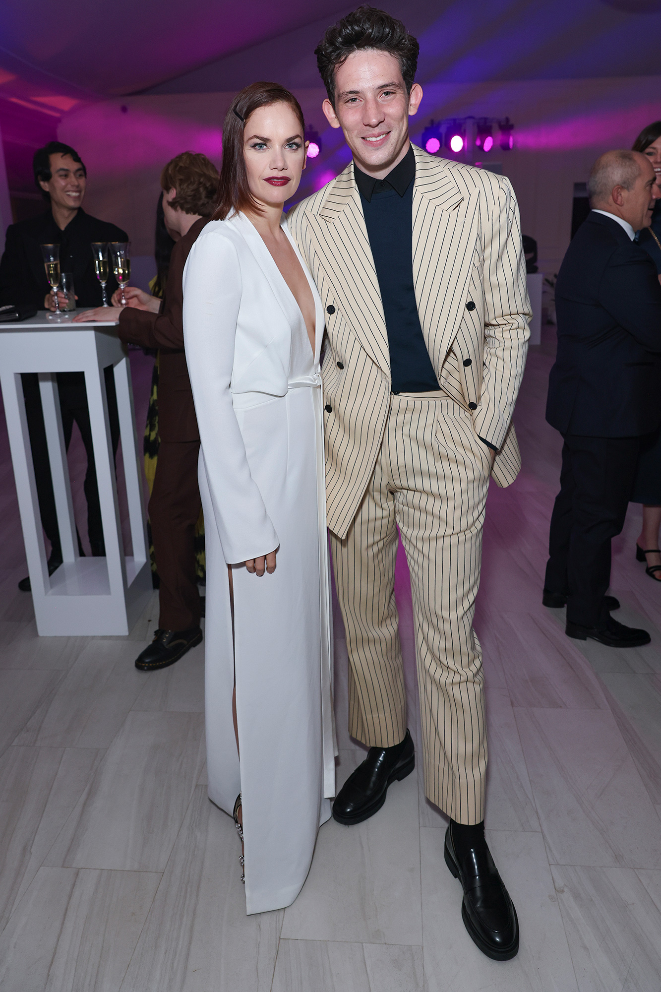 Ruth Wilson and Josh O'Connor attend the BVLGARI High Jewellery Gala at Kensington Palace on October 12, 2021 in London, England