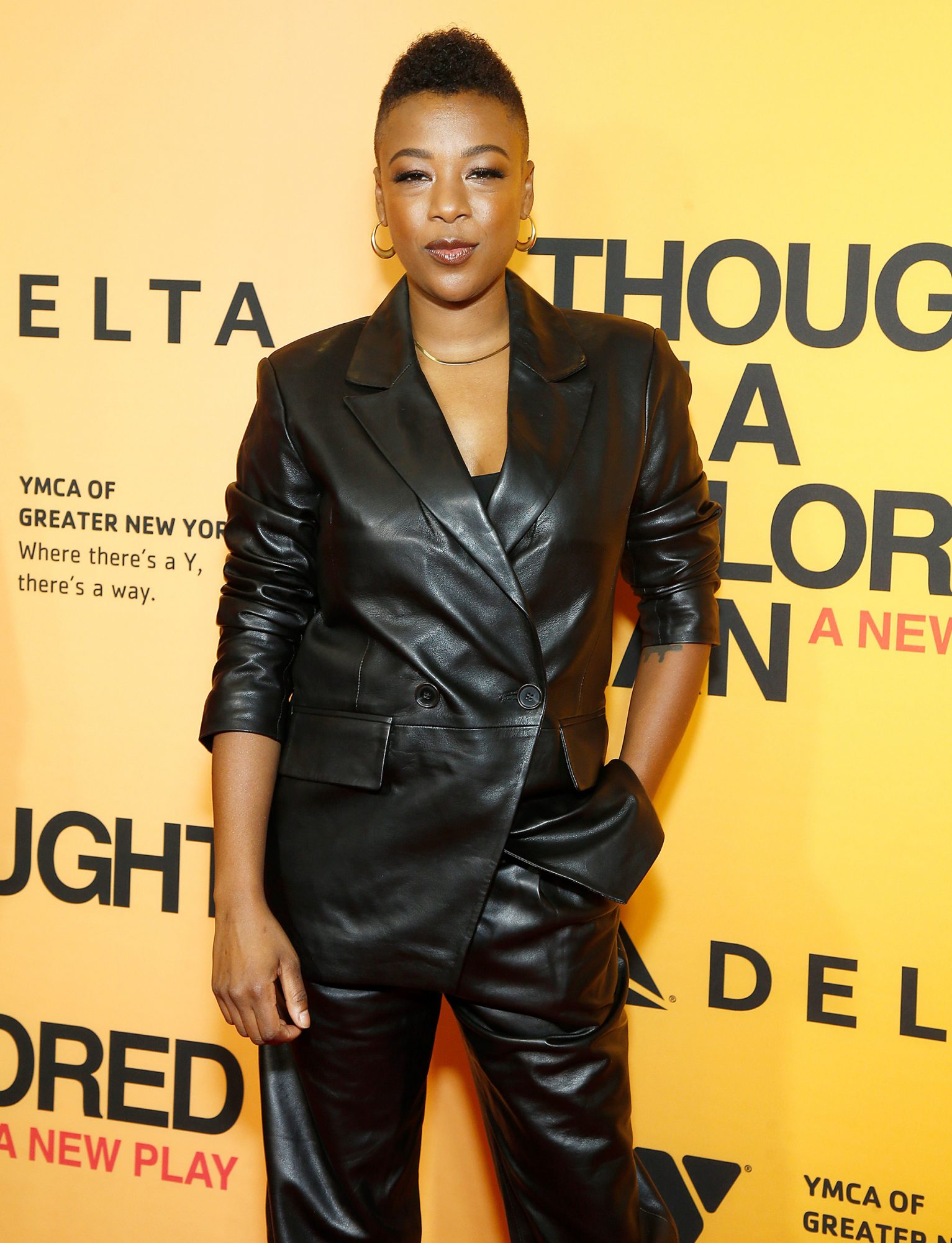 """Samira Wiley attends """"Thoughts Of A Colored Man"""" opening night at Golden Theatre on October 13, 2021 in New York City."""