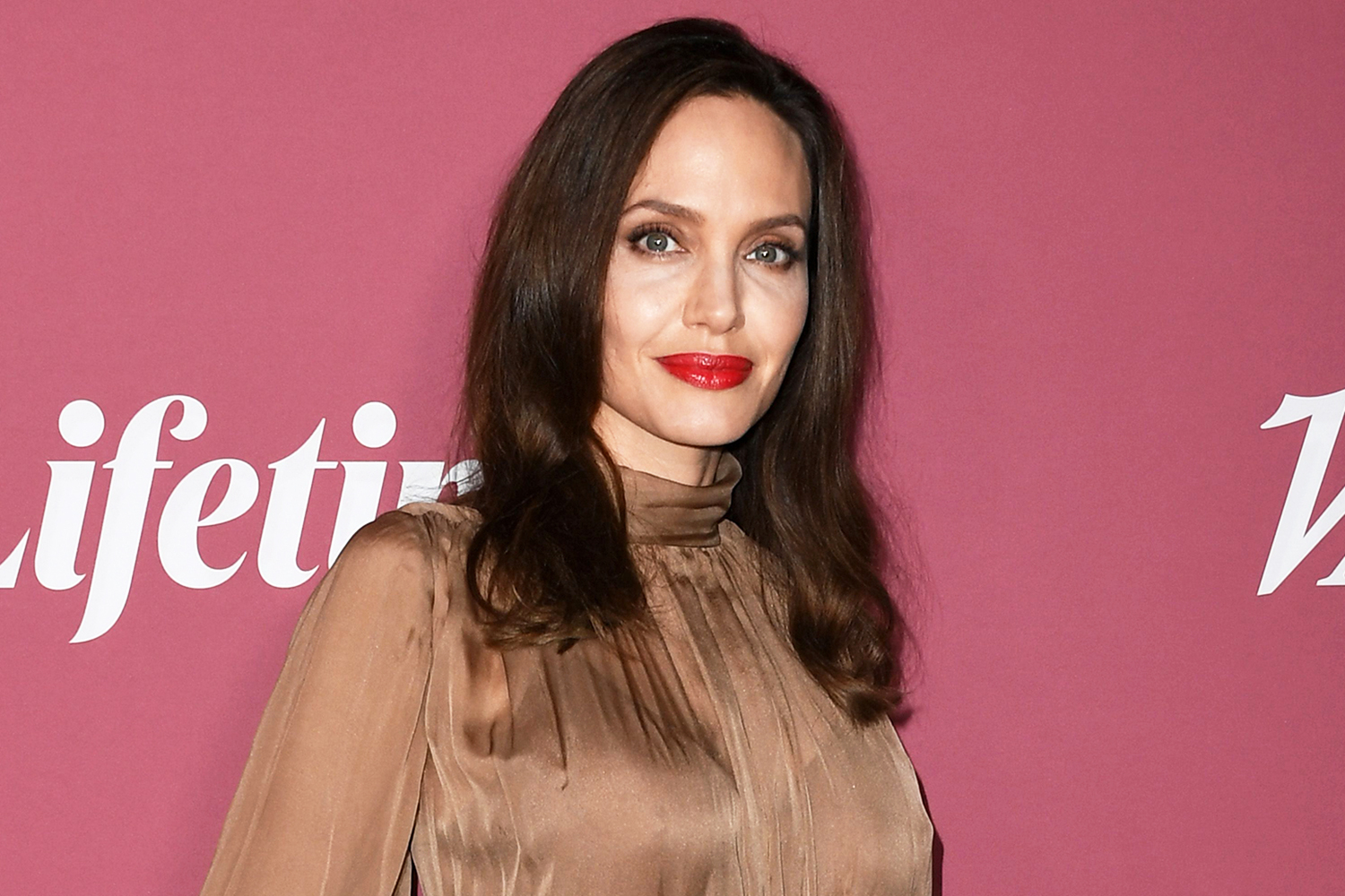 Angelina Jolie attends Variety's Power Of Women at Wallis Annenberg Center for the Performing Arts on September 30, 2021 in Beverly Hills, California.