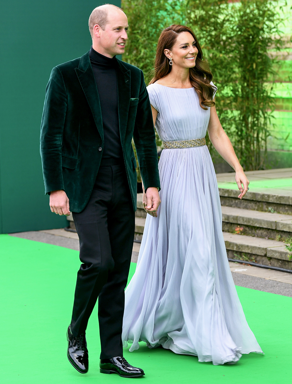 Prince William, Duke of Cambridge and Catherine, Duchess of Cambridge attend the Earthshot Prize 2021 at Alexandra Palace on October 17, 2021 in London, England.