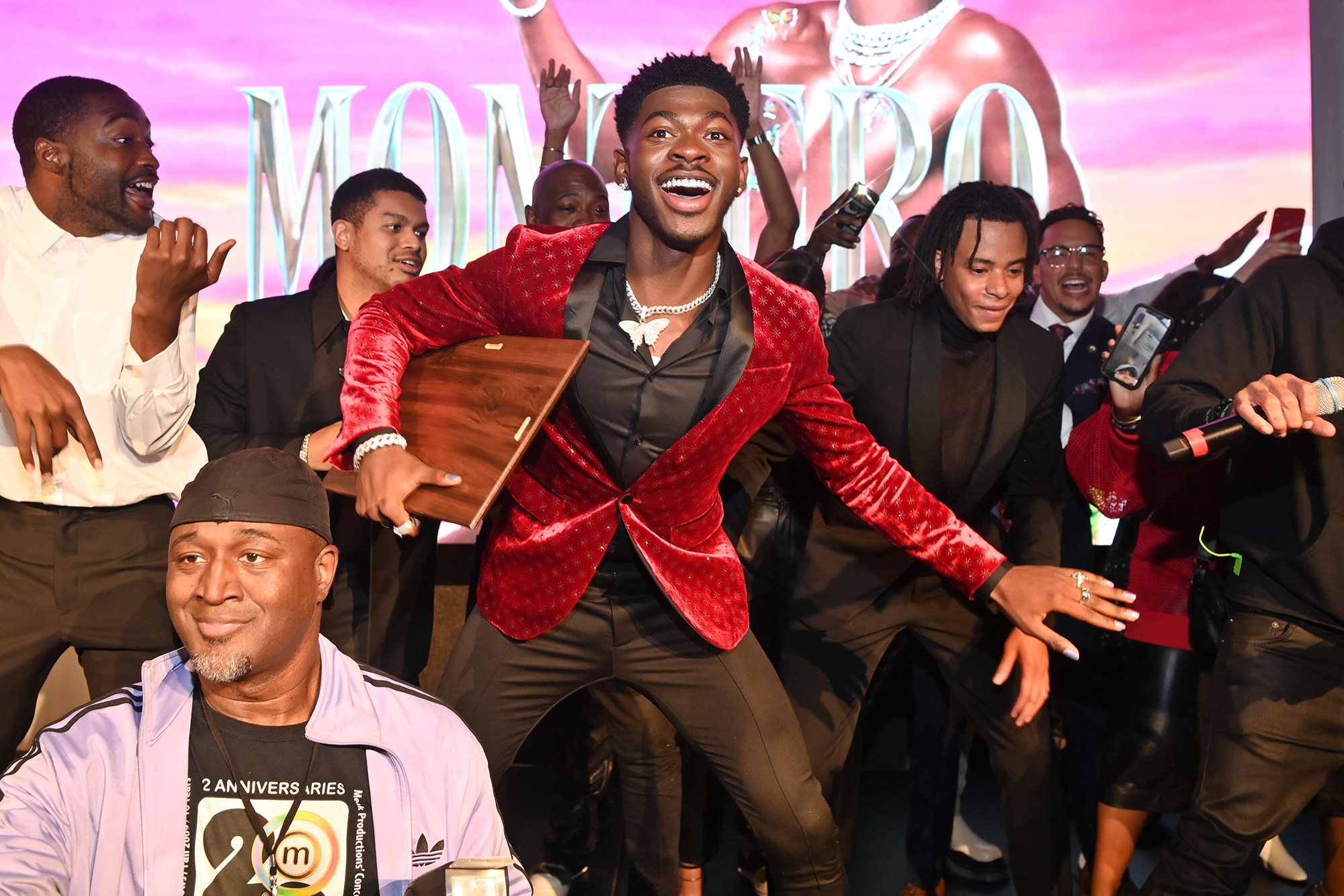 Lil Nas x and Dallas Austin attend BMI Presents A Night With Lil Nas X Awards dinner at The Gathering Spot on October 20, 2021 in Atlanta, Georgia