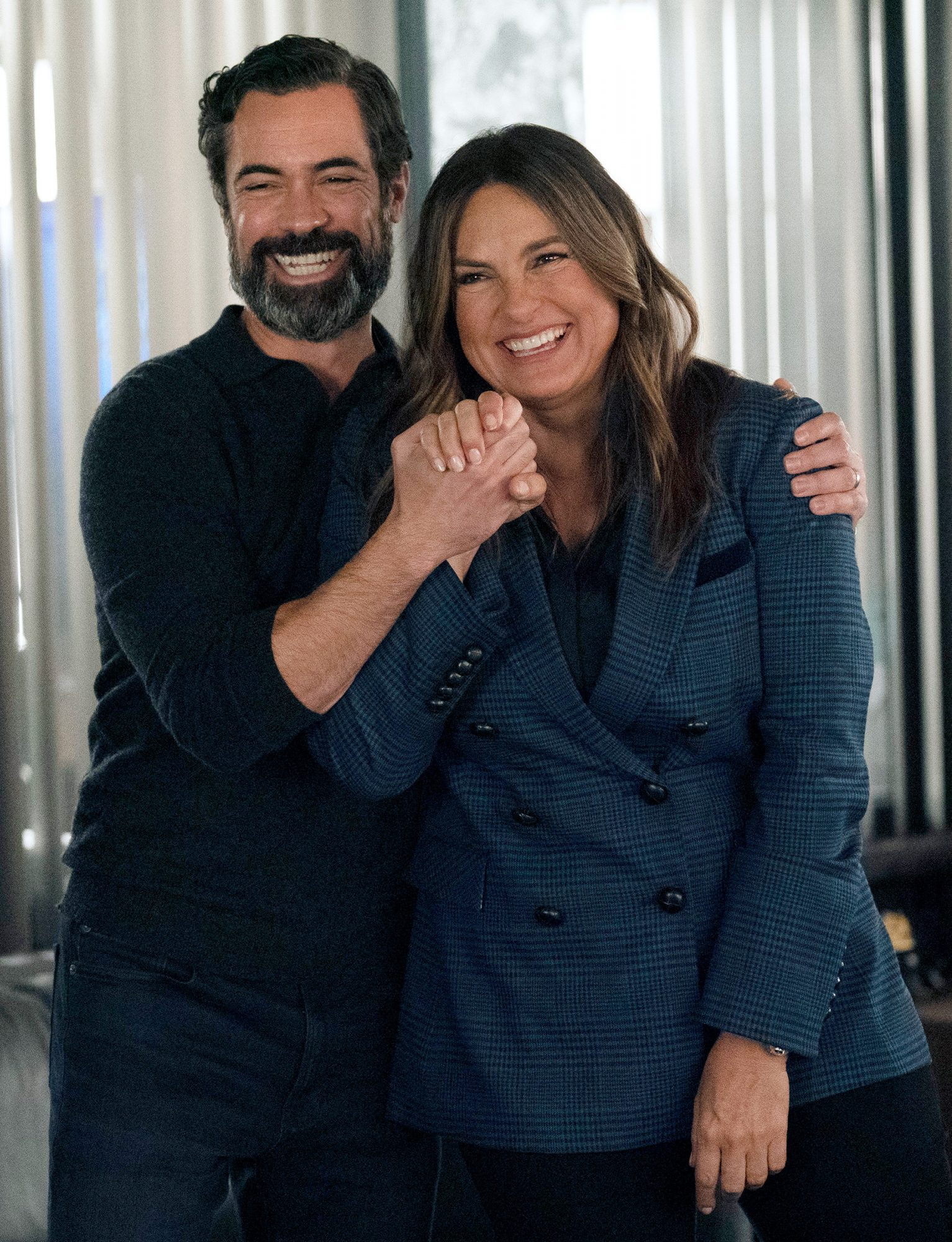 """LAW & ORDER: SPECIAL VICTIMS UNIT -- """"The Five Hundredth Episode"""" Episode 23006 -- Pictured: (l-r) Danny Pino as Nick Amaro, Mariska Hargitay as Captain Olivia Benson -- (Photo by: Virginia Sherwood/NBC)"""