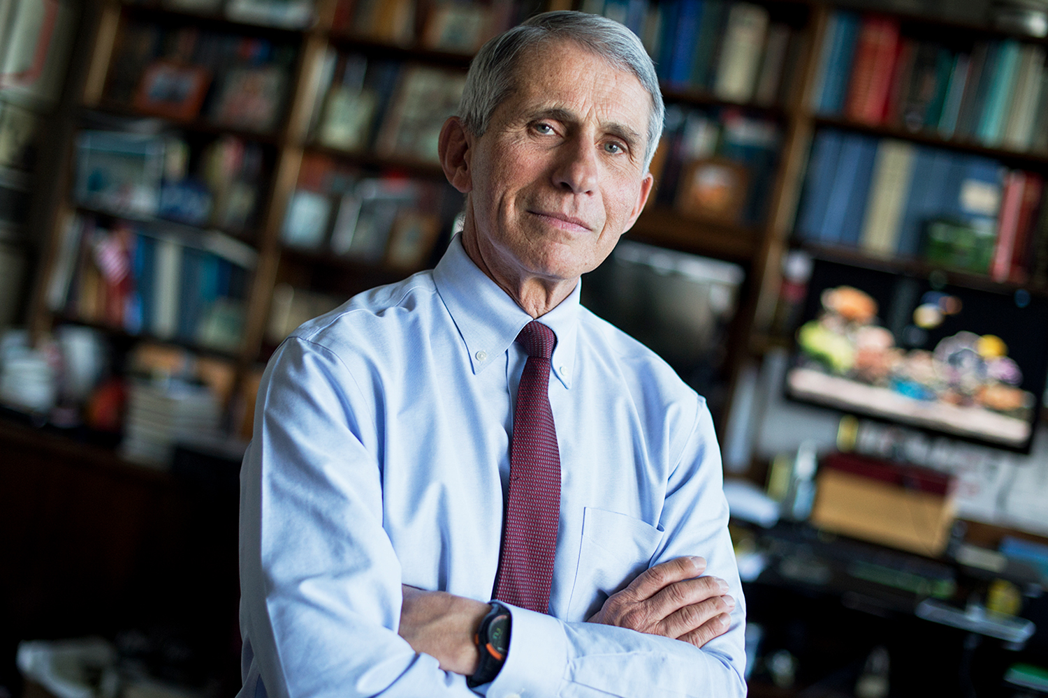 Dr. Anthony Fauci, Director of the National Institute of Allergy and Infectious Diseases, is photographed at the NIH.